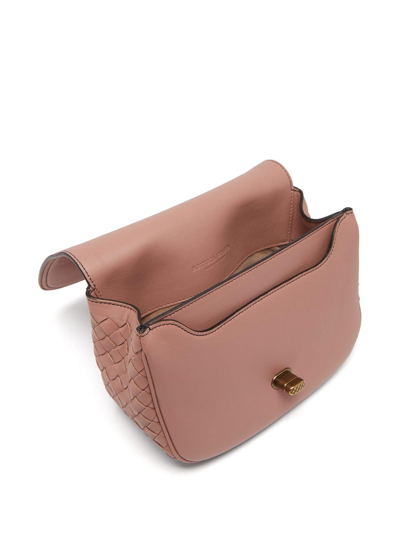 06f0bd956324 Bottega Veneta - Pink Bv Luna Leather Cross Body Bag - Lyst. View fullscreen