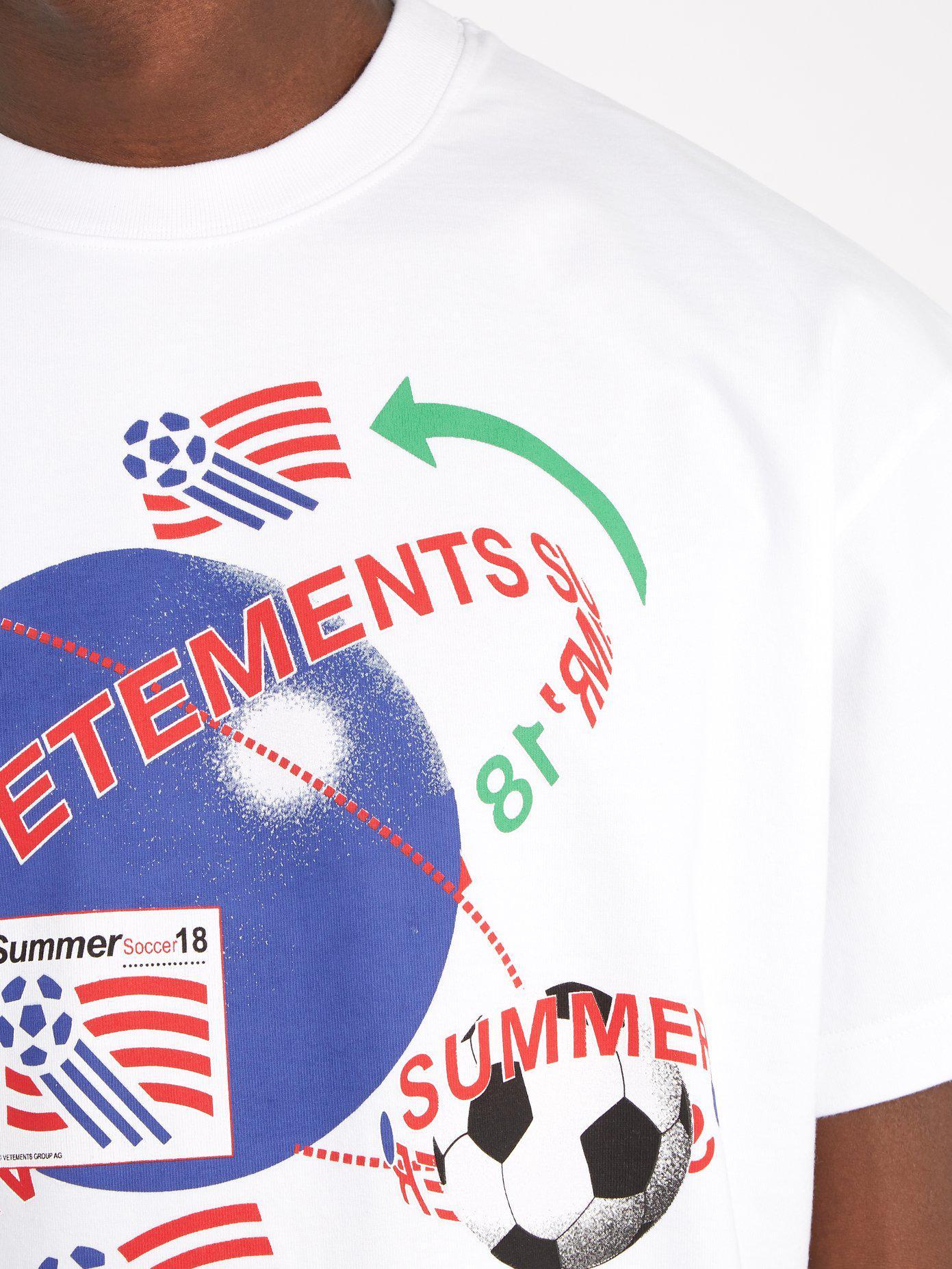 Obtenir Authentique En Ligne T-shirt en coton à imprimé FootballVETEMENTS Vente Le Plus Récent Vraiment La Vente En Ligne À La Recherche Pour Pas Cher En Ligne Classique Pas Cher En Ligne P4pNhGXN