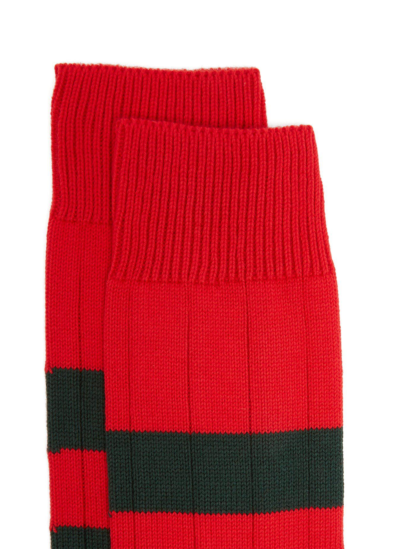 52bc9432798 Lyst - Pantherella Scott Nichol Ely Ribbed Knit Socks in Red for Men - Save  50%