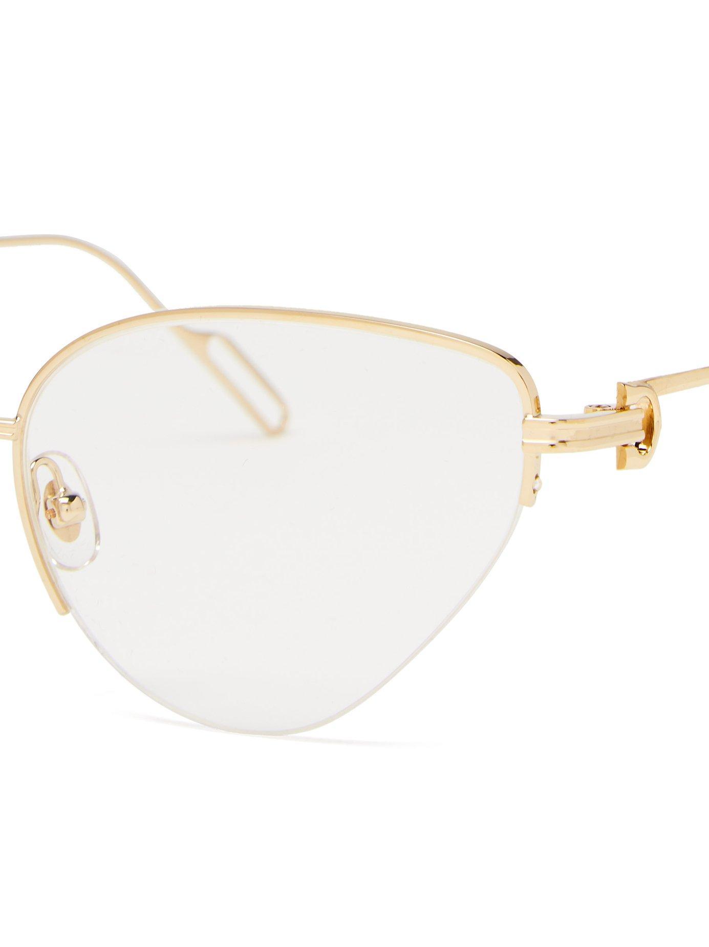 Cartier Première Metallic Lyst De Glasses Metal Cat Eye In 1RFwFxf