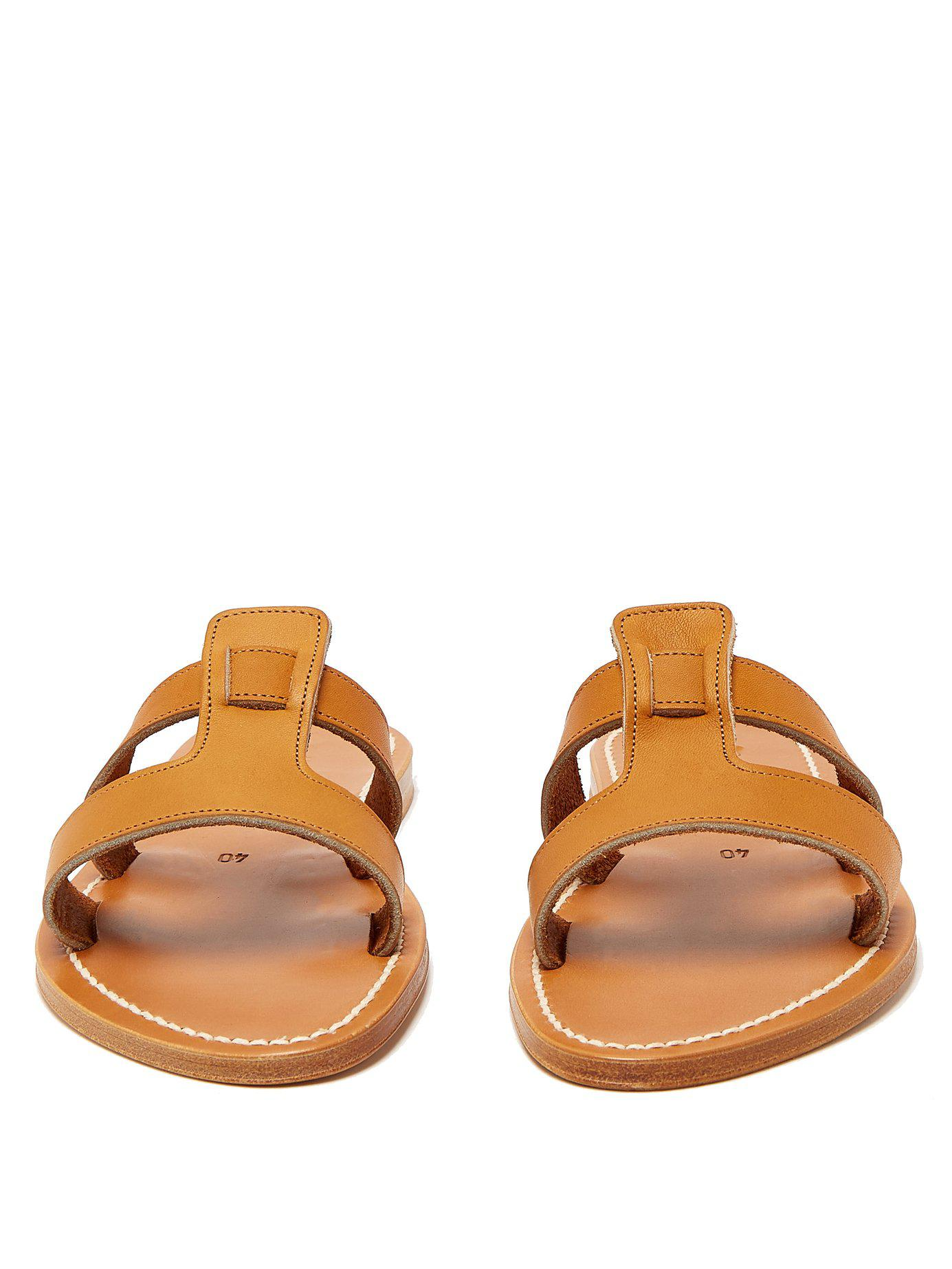 7be8e30ba18 K. Jacques - Brown Thanos Leather Slides - Lyst. View fullscreen