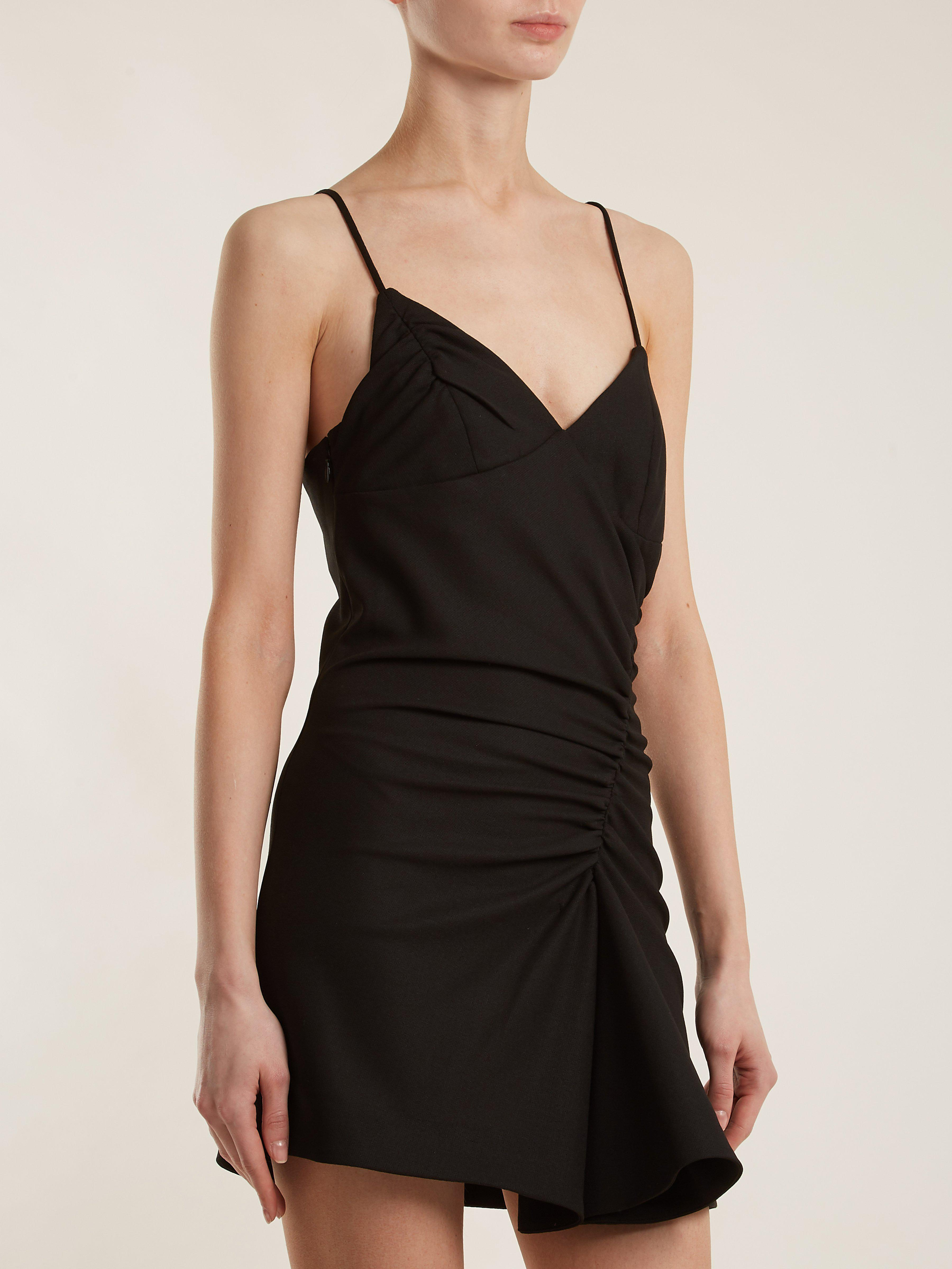 4d11d9927f84 Jacquemus Conga Ruched Mini Dress in Black - Lyst