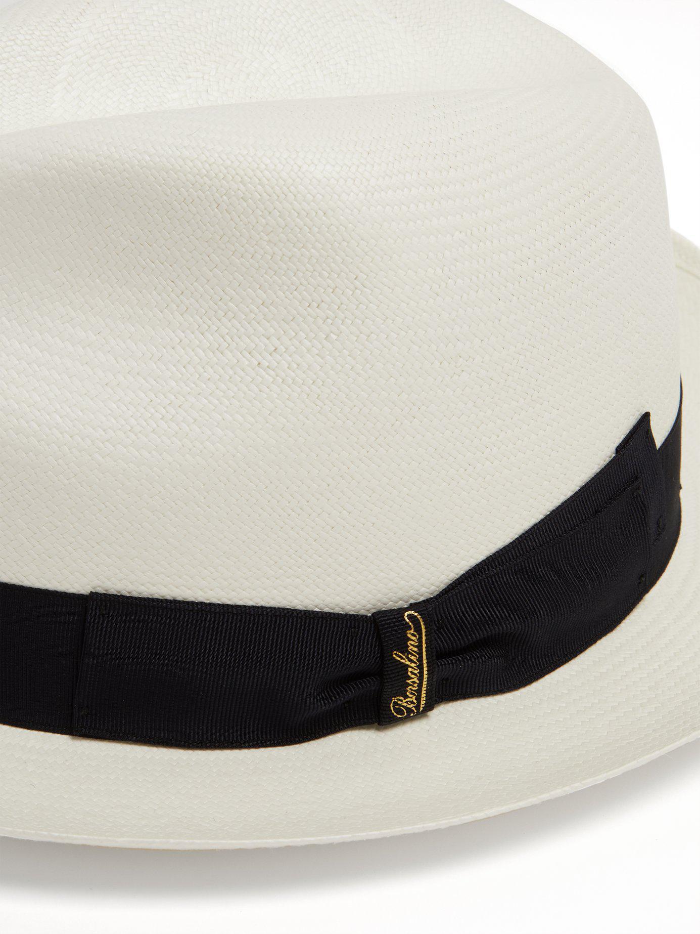 Lyst - Borsalino Fine Panama Hat in Black for Men 6cafa1cc80e4