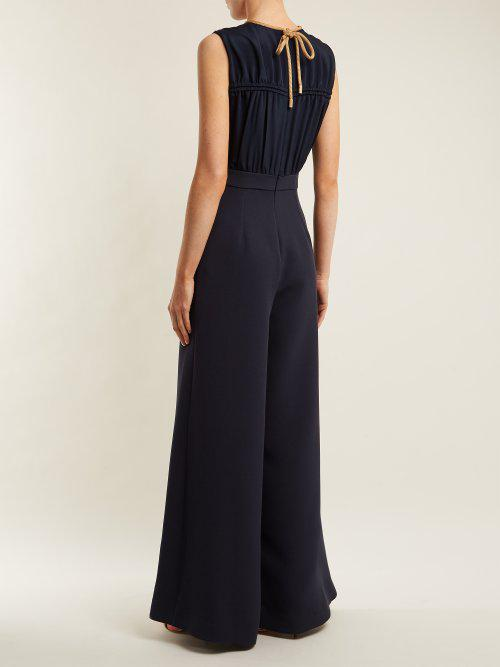 Deanna V-neck silk jumpsuit Roksanda Ilincic Cheap Price Pre Order Fake Cheap Price 6QoLt9yFsX