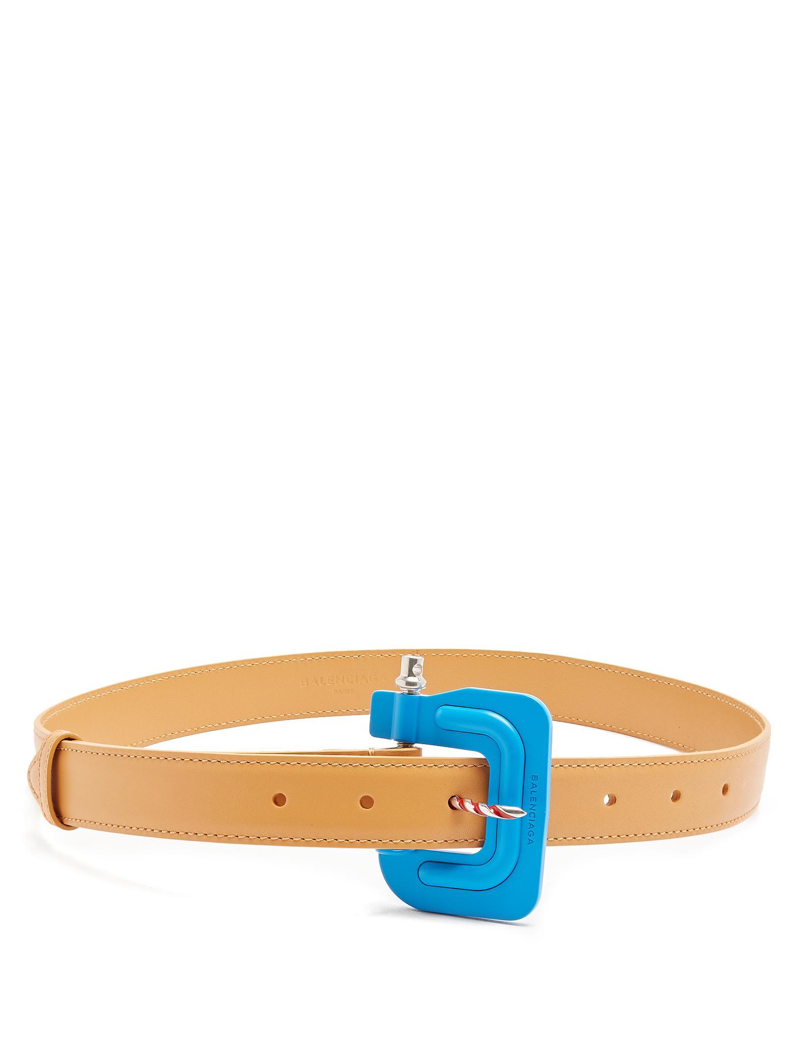 Clamp-buckle leather belt Balenciaga SSx1j73XR