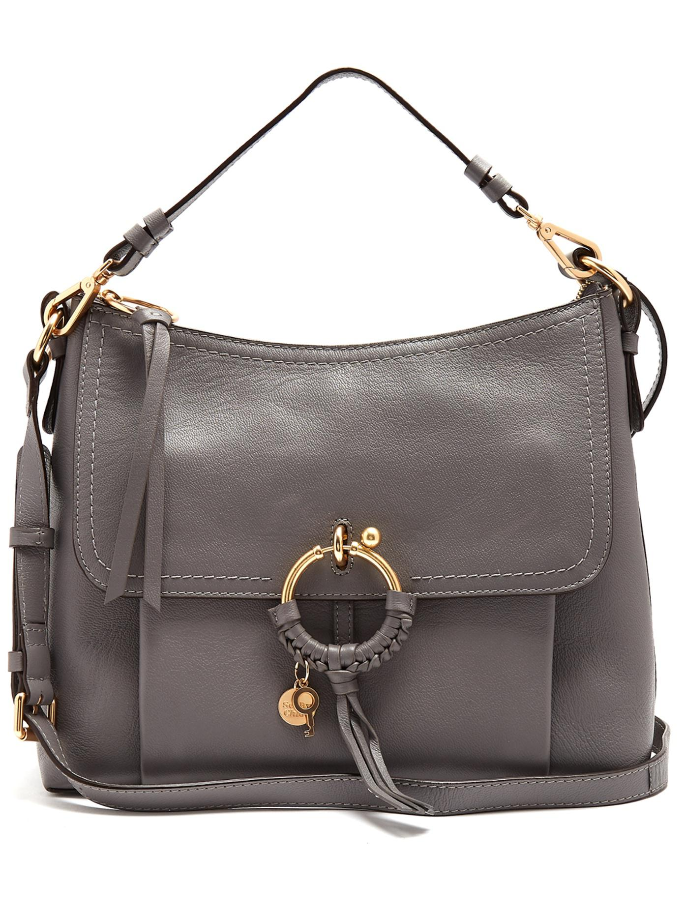 744d23bf7ad0 Lyst - See By Chloé Joan Leather Cross-body Bag in Gray