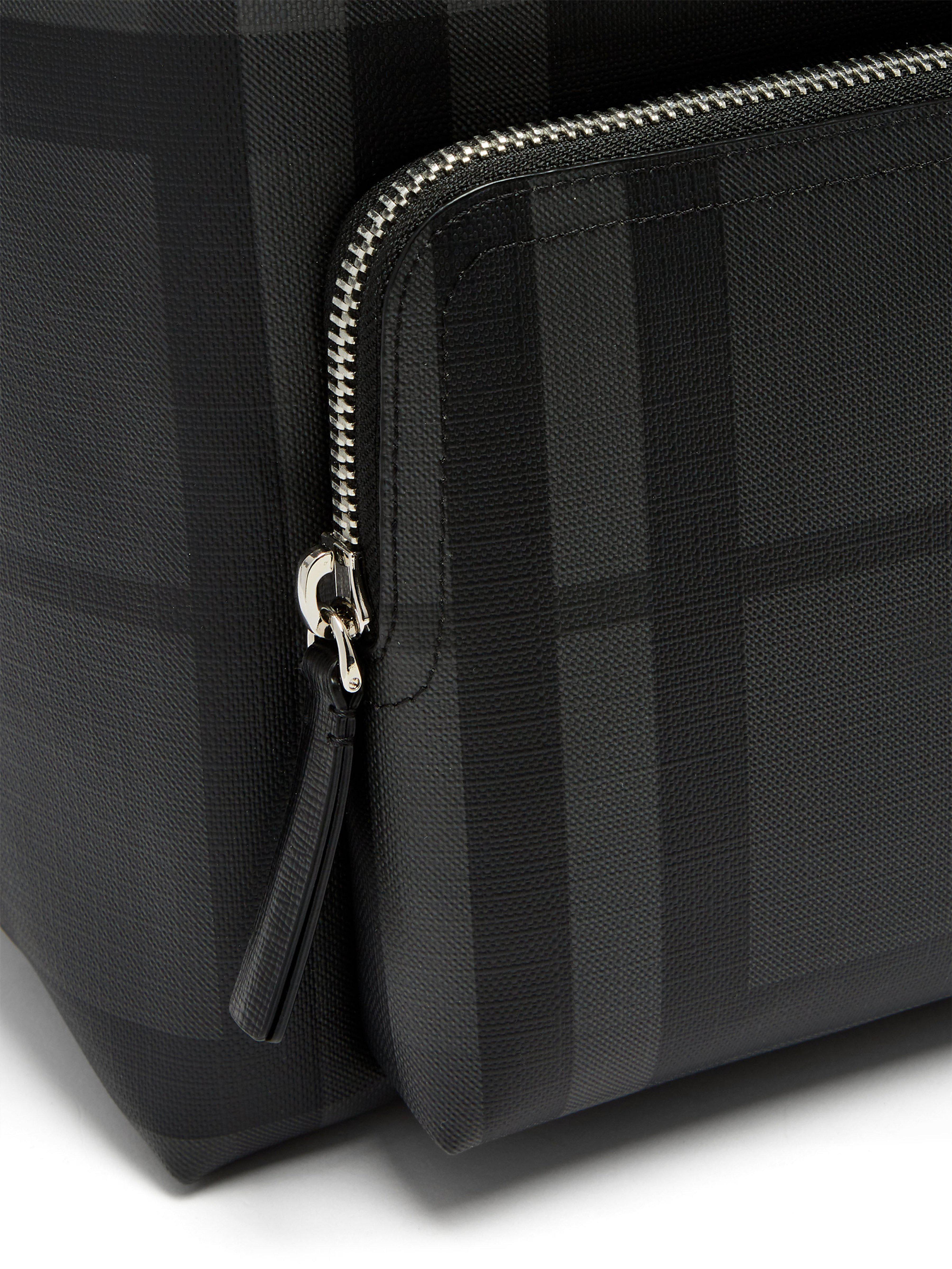 1e708703b29d Burberry London Check Pvc Backpack in Black for Men - Lyst