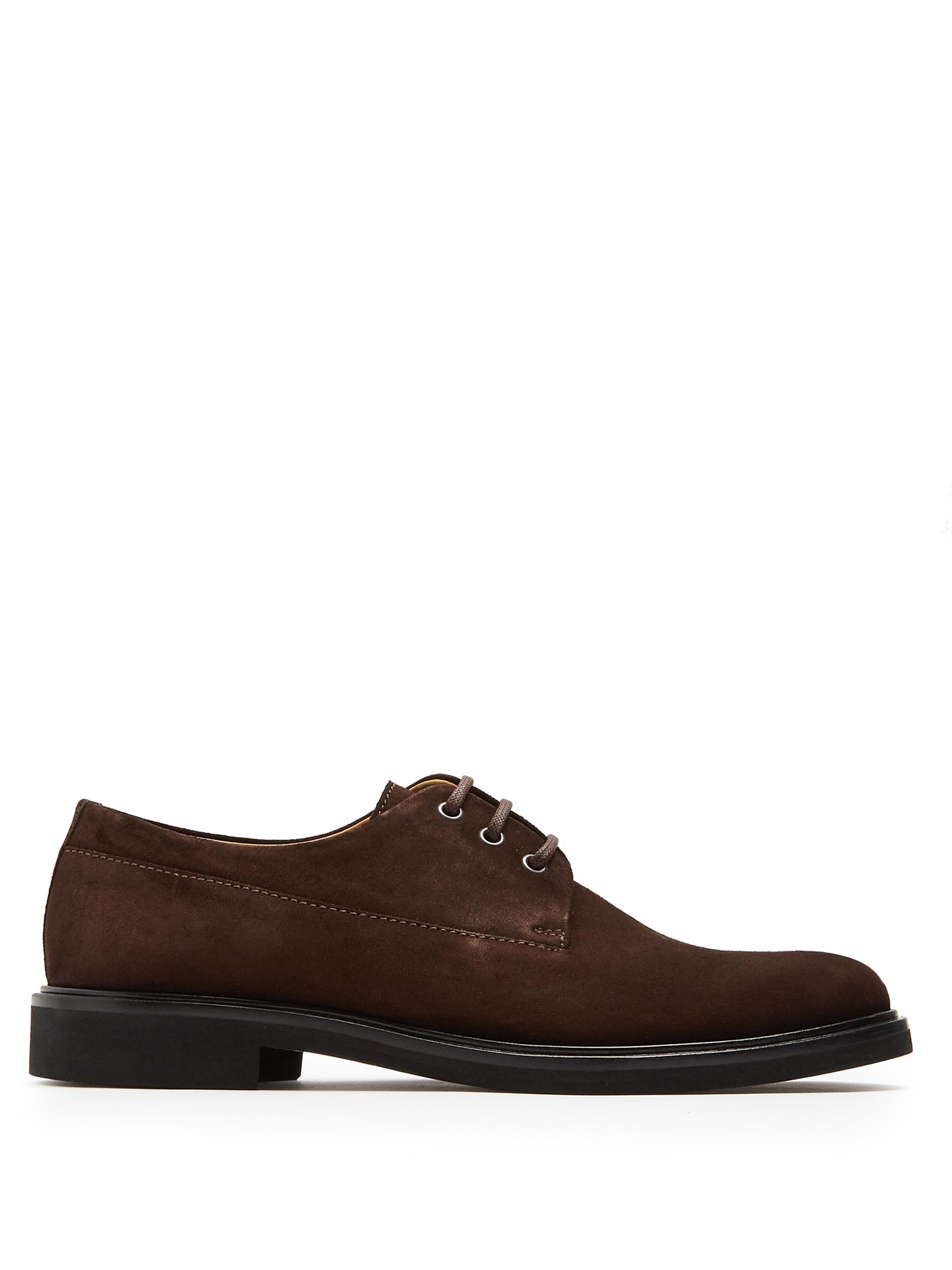 5678072c81df A.P.C. Gustave Suede Derby Shoes in Brown for Men - Lyst