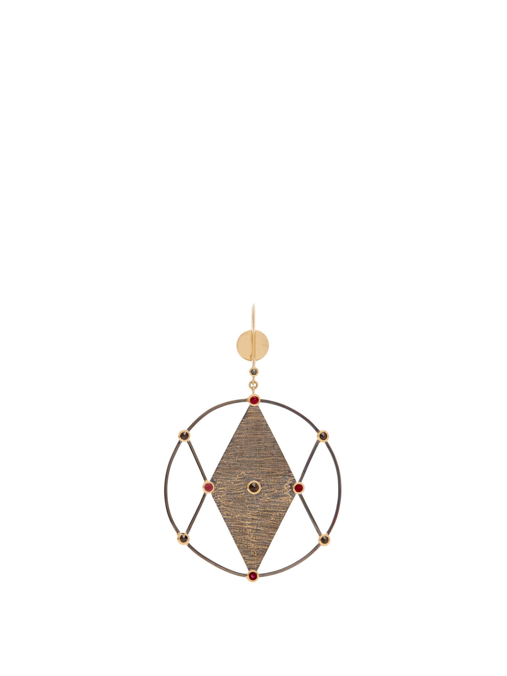 Ara Vartanian X Kate Moss diamond & gold single earring BRlzzEN