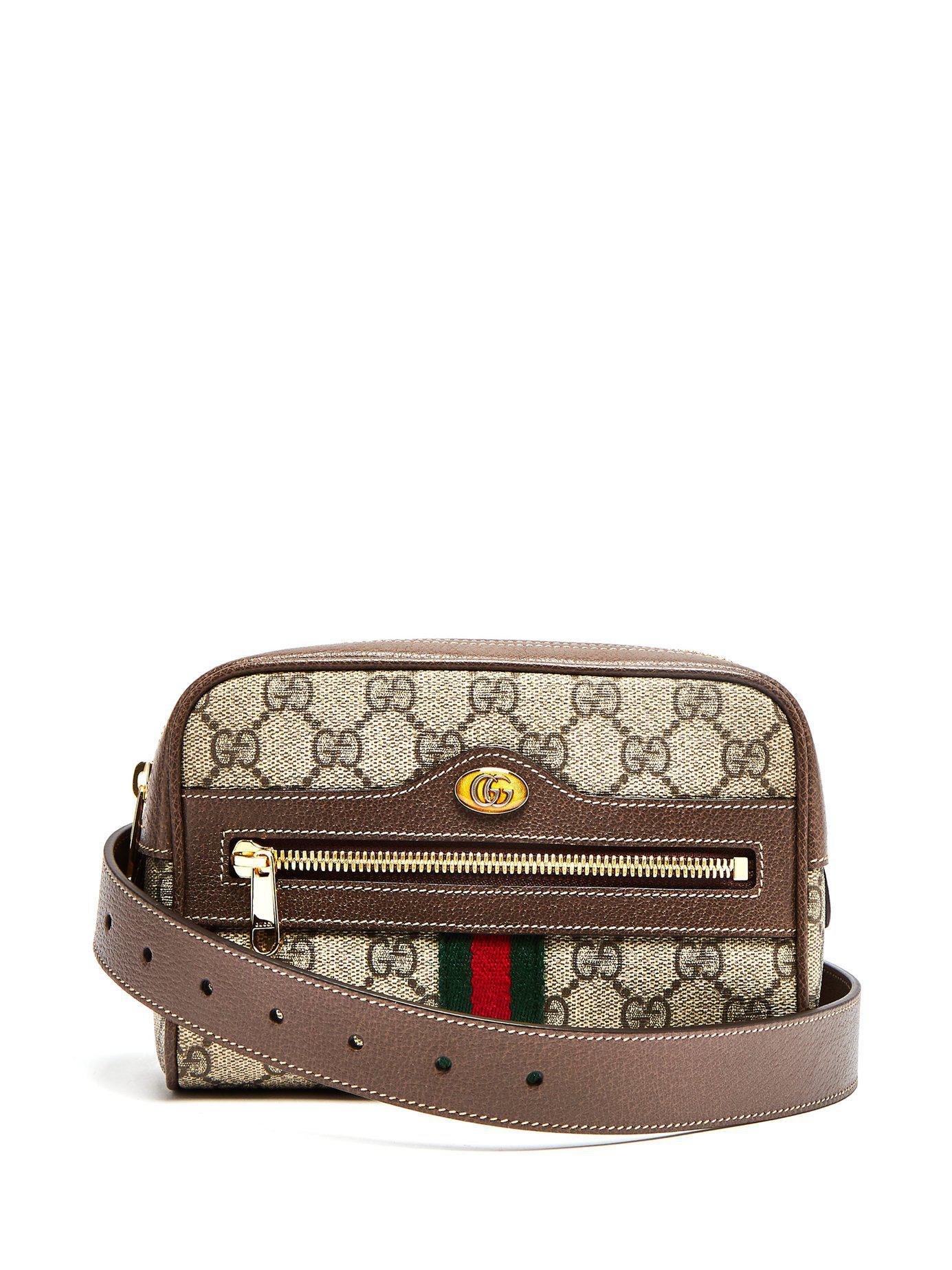 0f513f70e Gucci Ophidia Gg Supreme Belt Bag in Brown - Save 4% - Lyst