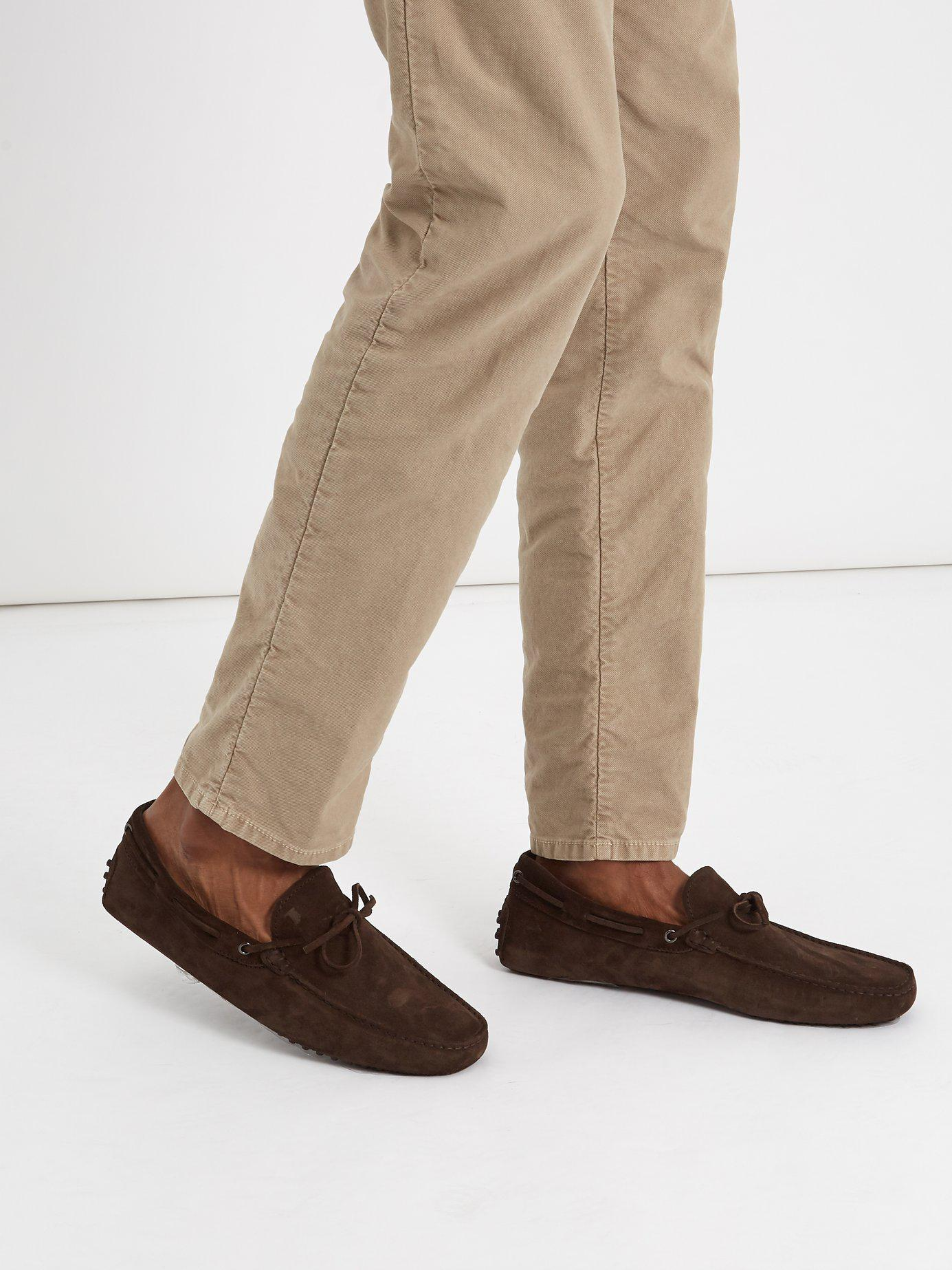 609439450f7 Lyst - Tod s Gommino Suede Driving Loafers in Brown for Men