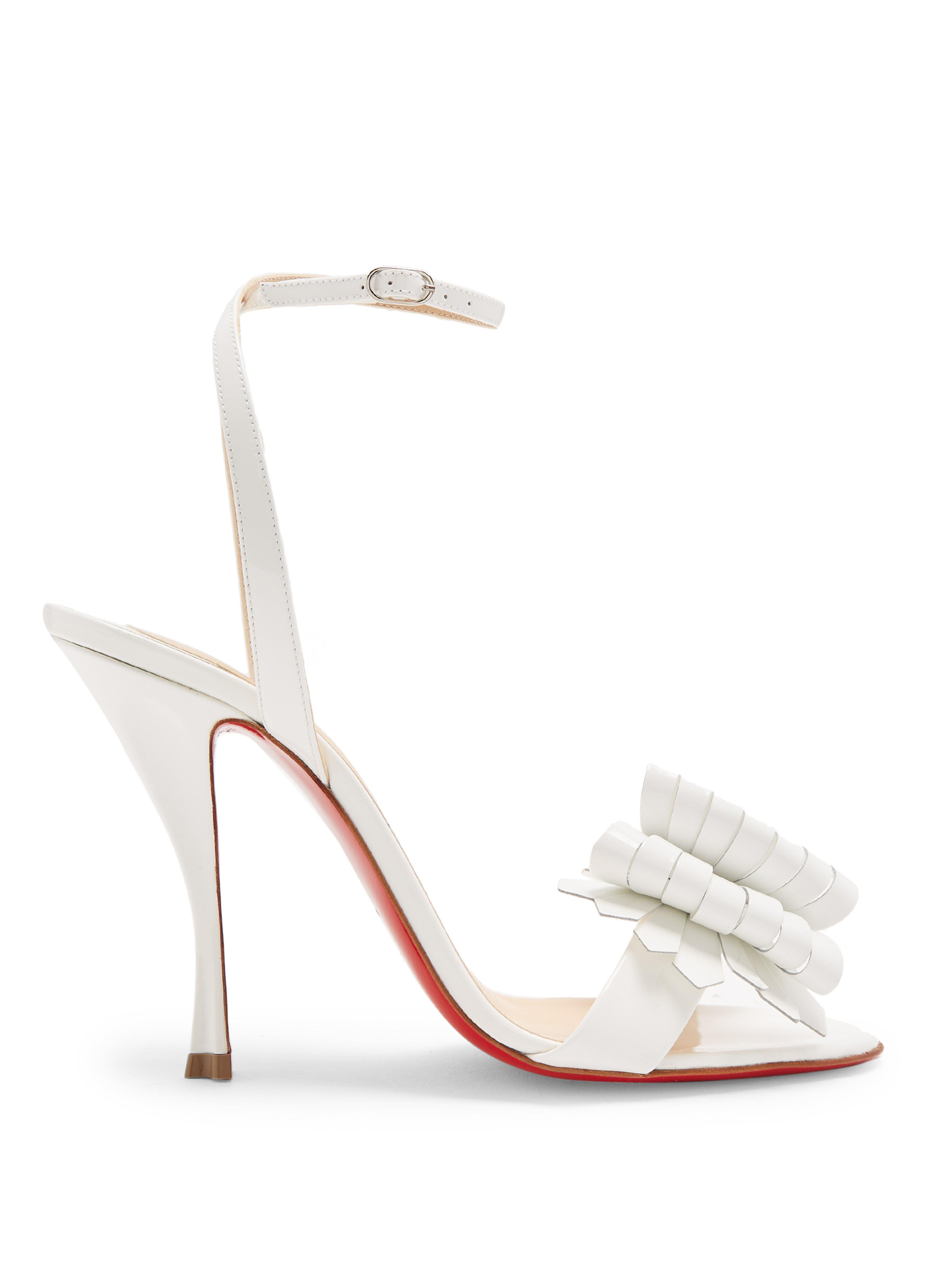 58652a31293 Christian Louboutin. Women s Miss Valois 85mm Patent-leather Sandals