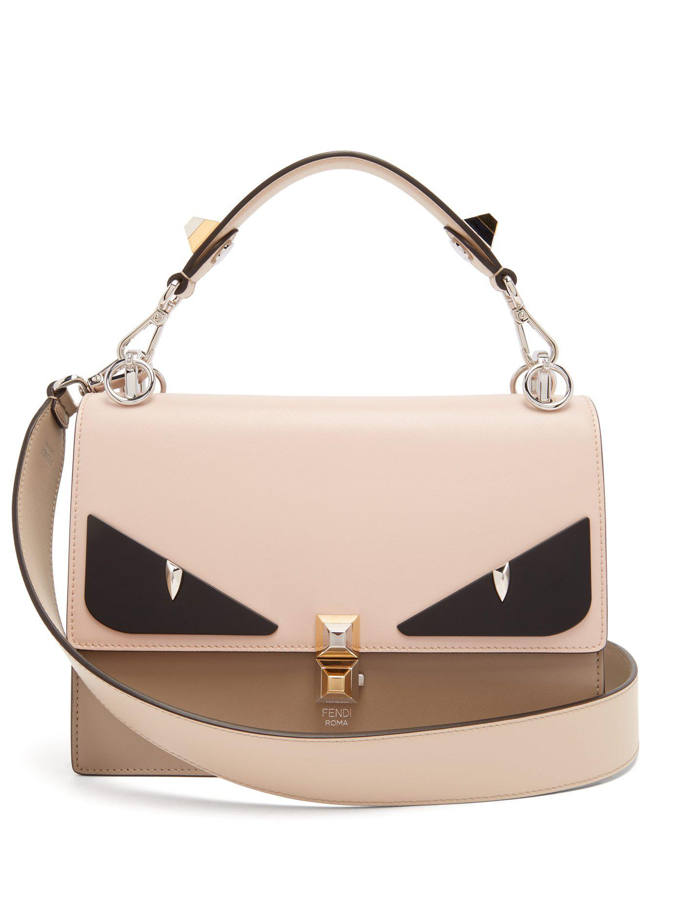 bca7110ef8d0 Lyst - Fendi Kan I Monster Eyes Leather Bag - Save 26%