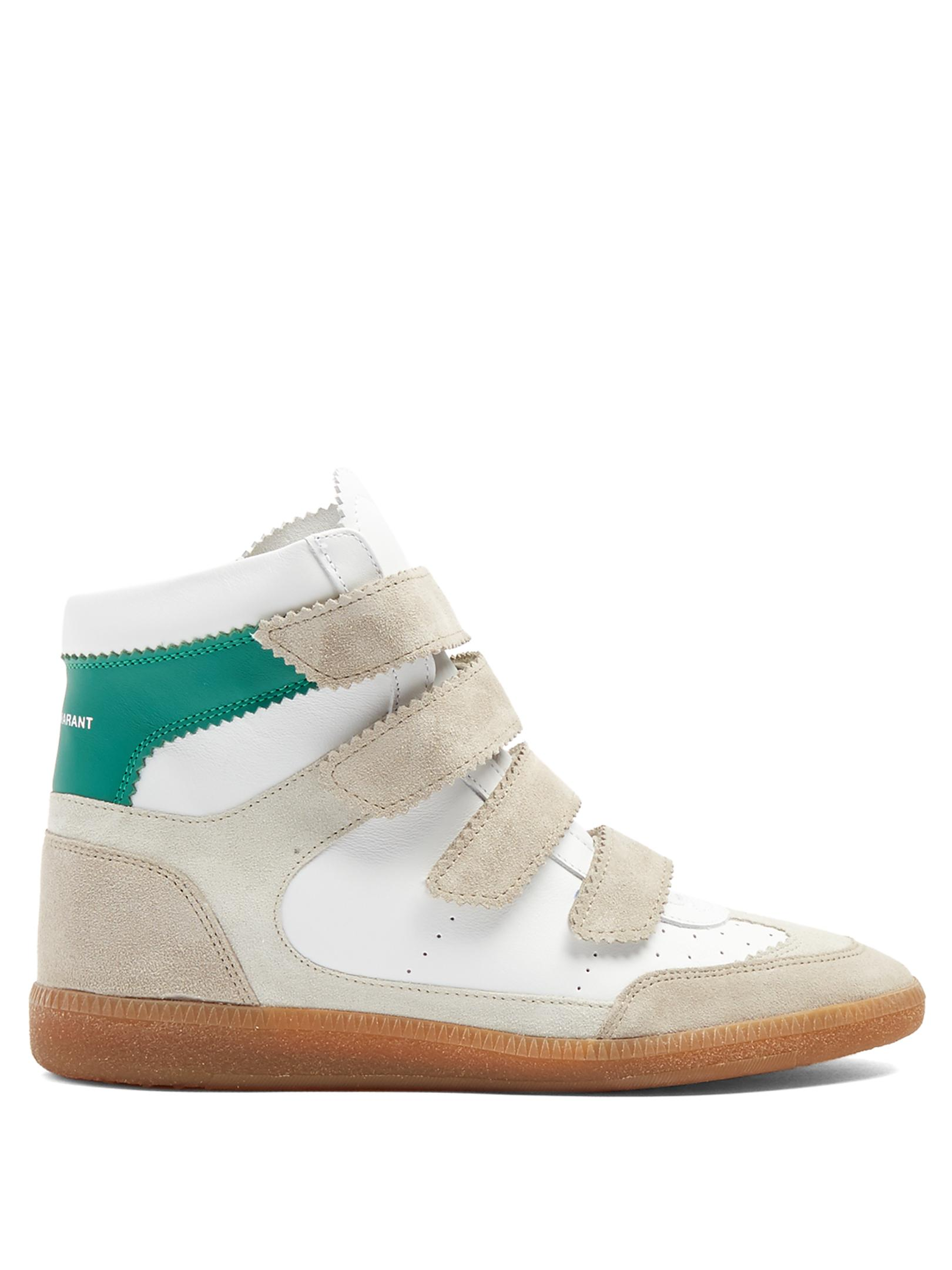 Bilsy embellished concealed-wedge leather trainers Isabel Marant Cheap Best Prices Free Shipping Footaction 2kiPQwcV