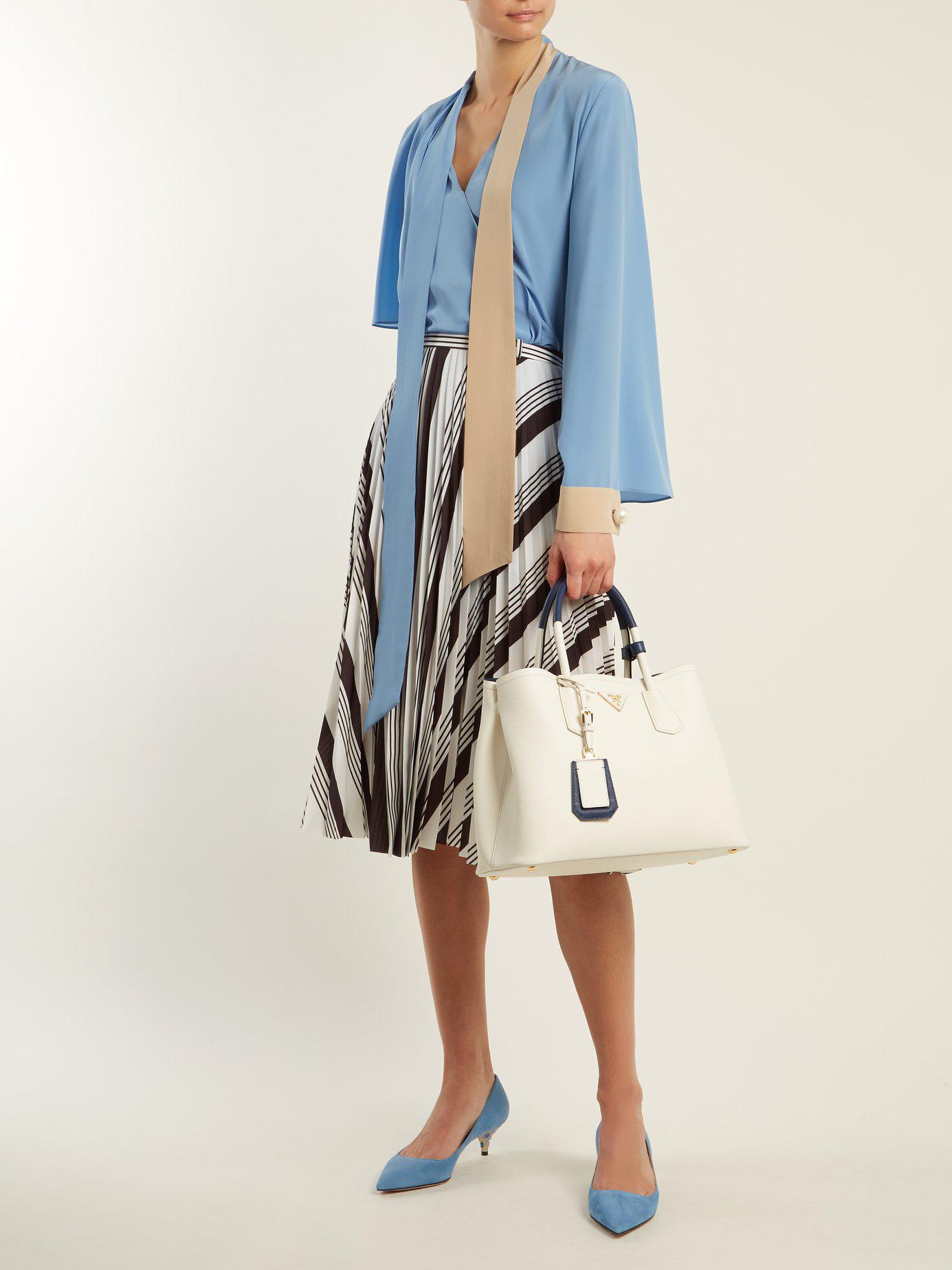 Lyst - Prada Double Saffiano Leather Bag 29d0acd20877b