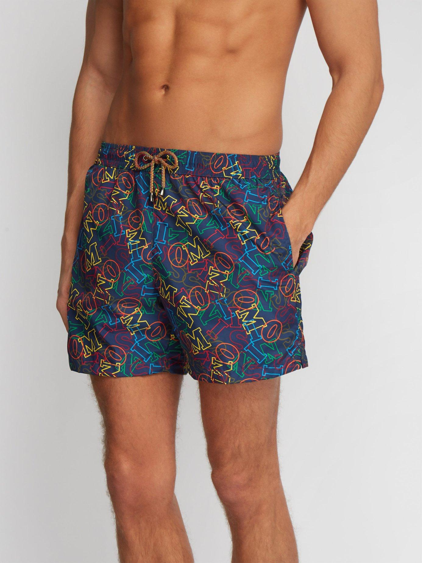 9e4ea21f11 Lyst - Missoni Logo Print Swim Shorts in Blue for Men
