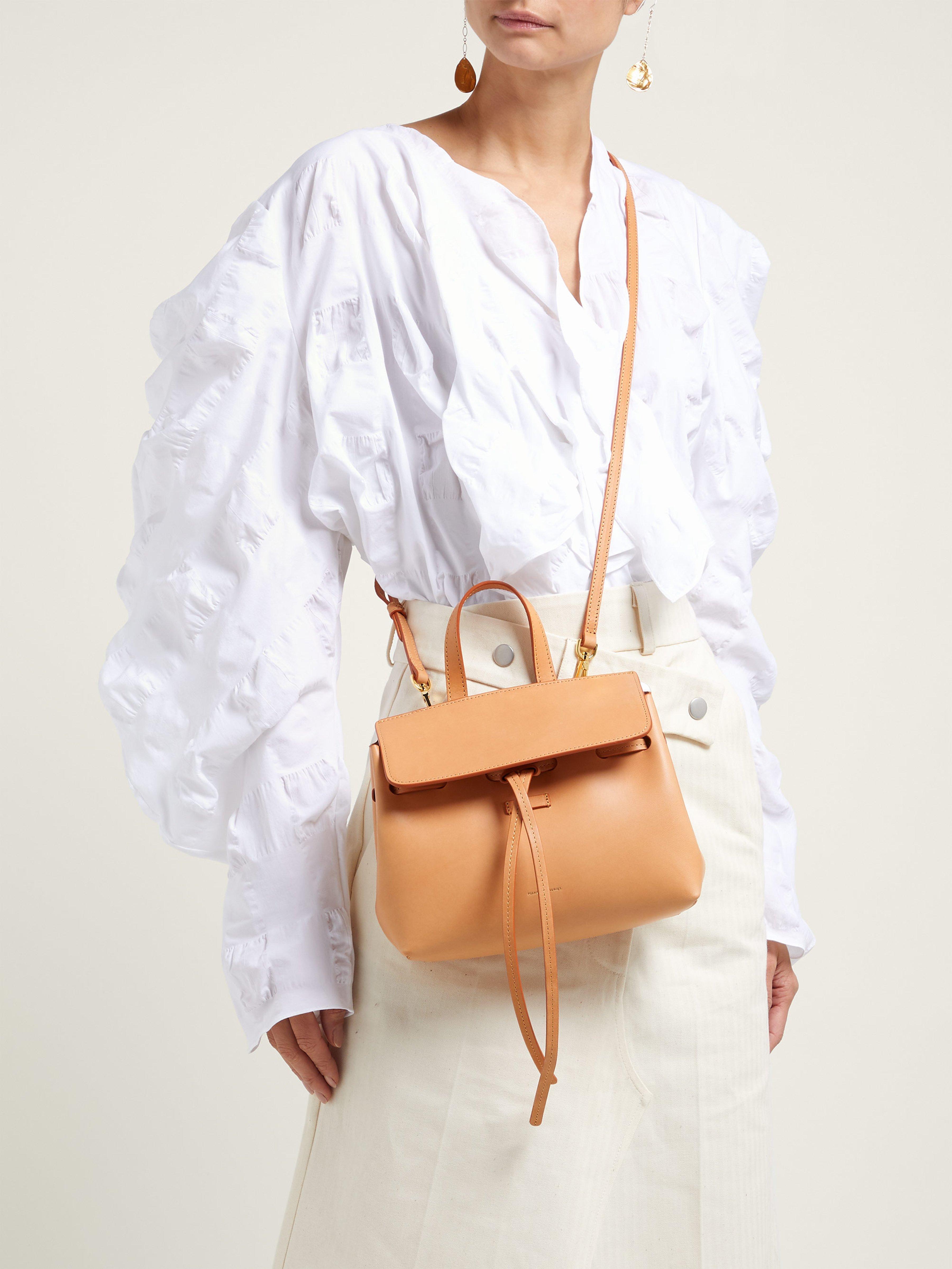 09bf7820fc8 Mansur Gavriel Mini Mini Lady Leather Cross Body Bag - Lyst