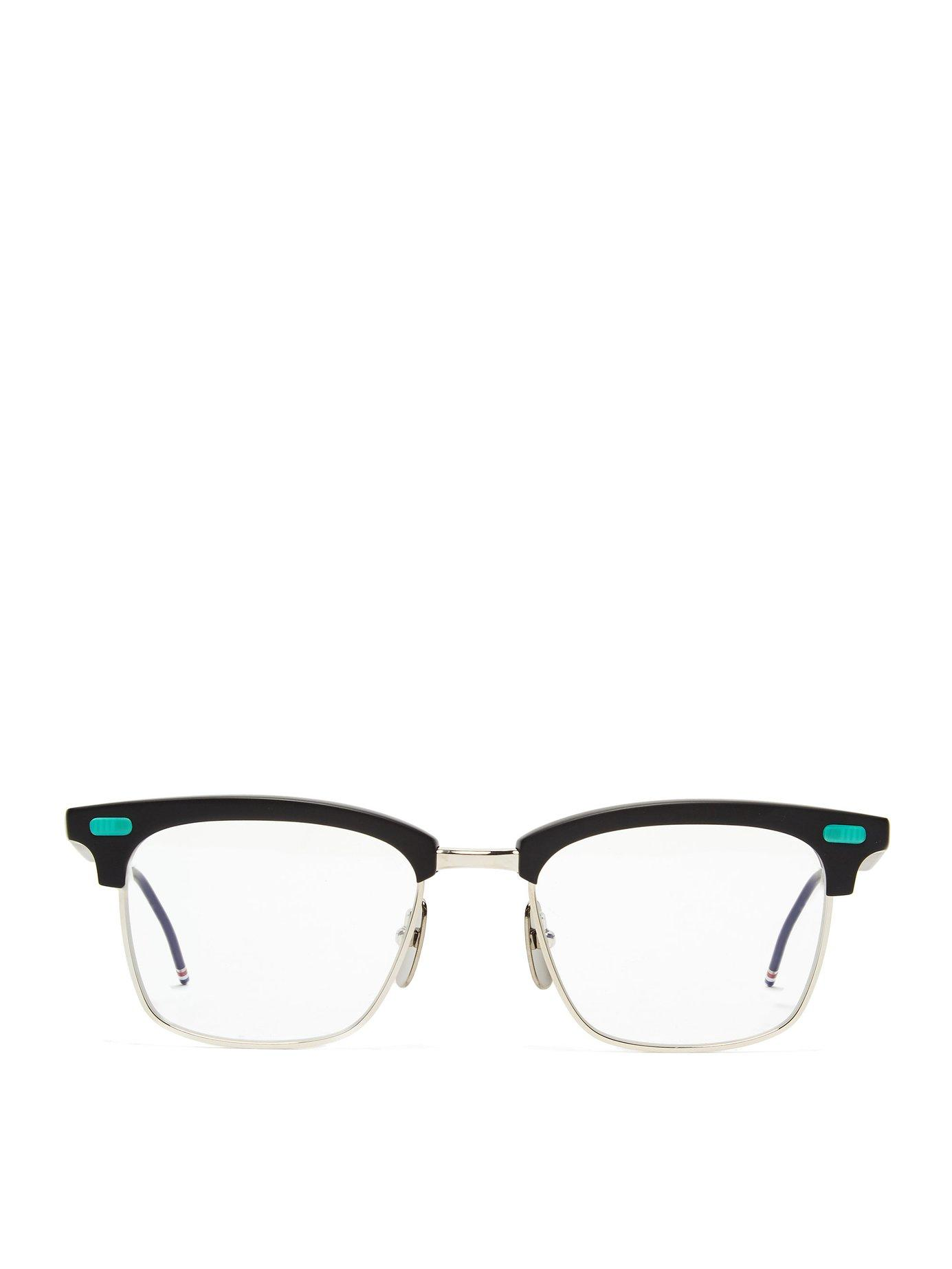 bde40ed13ee1 Lyst - Thom Browne D Frame Metal And Acetate Glasses in Black for Men