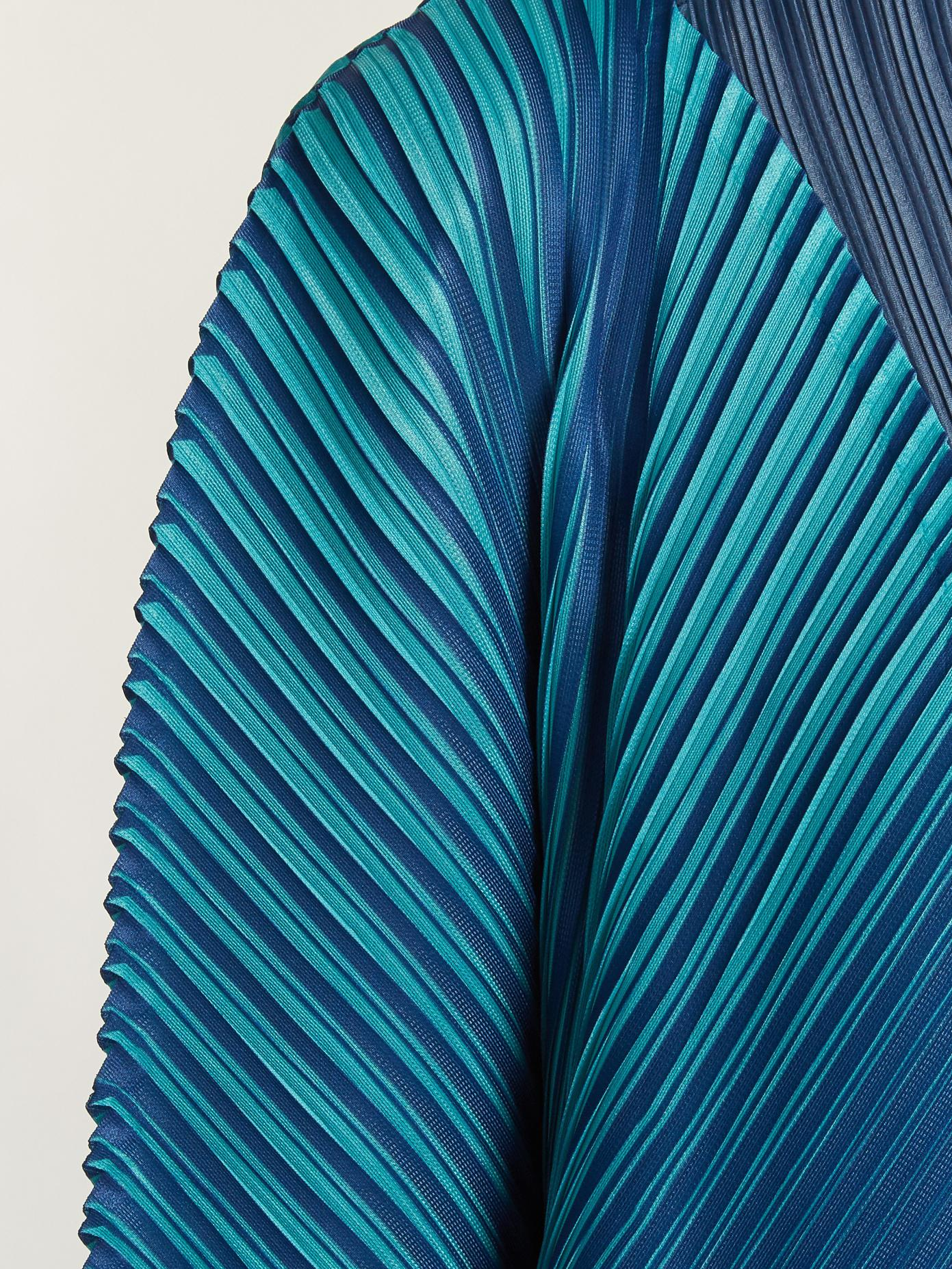 Alt striped pleated jacket Pleats Please Issey Miyake OXiDD4