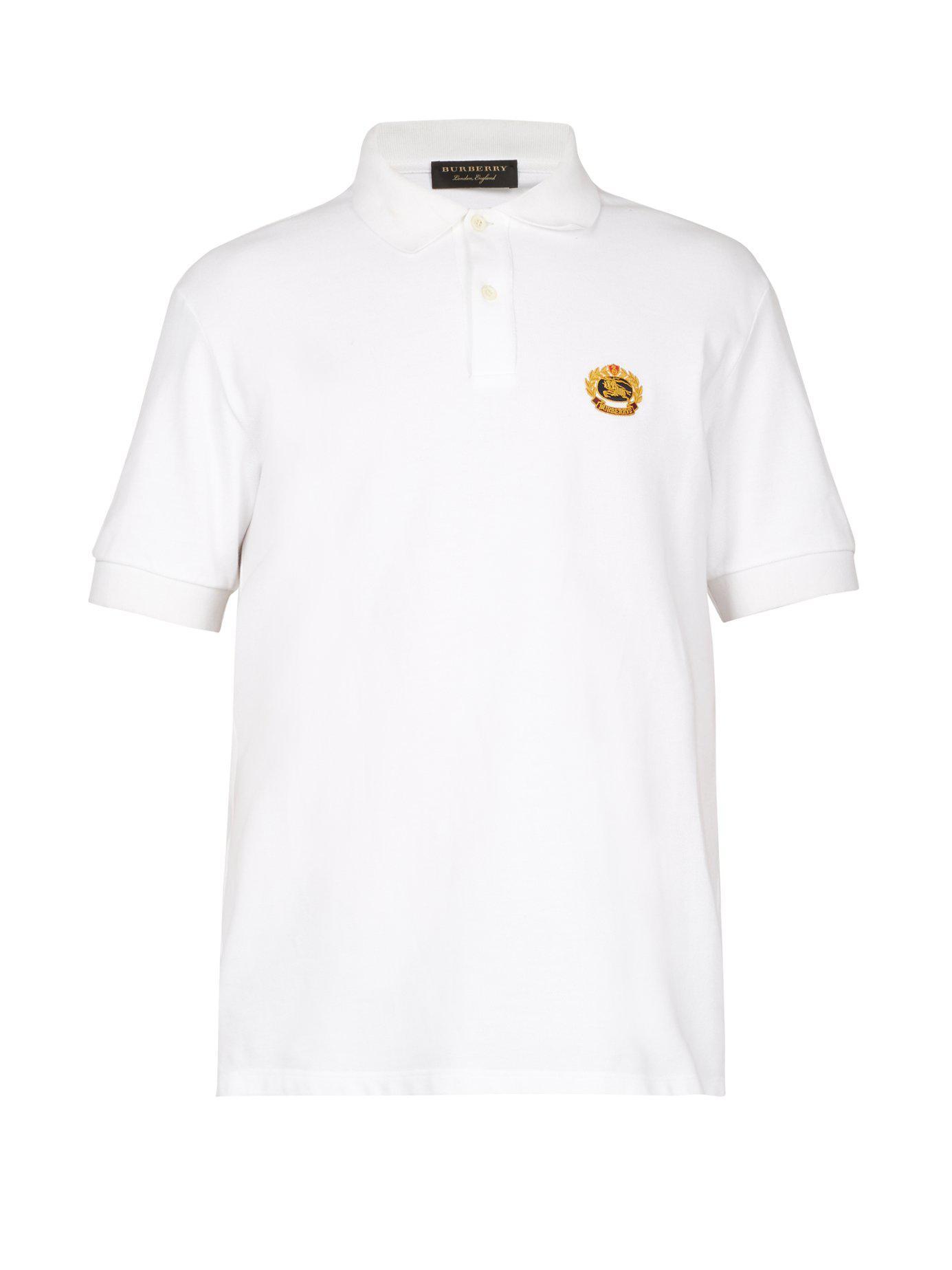 Lyst - Polo en piqué de coton à appliqué logo Burberry pour homme en ... caf200ab23d