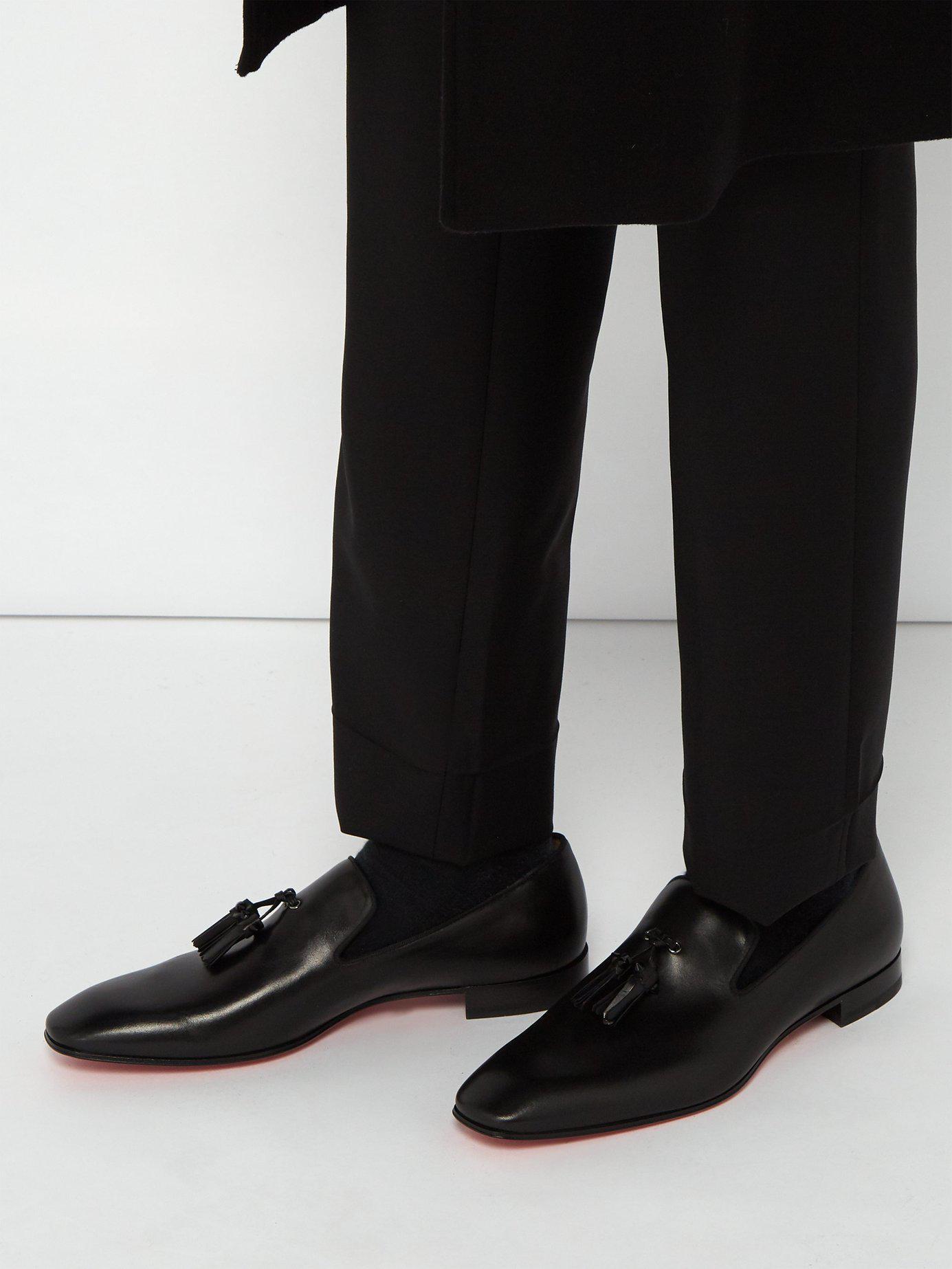 c15de2452ff Lyst - Christian Louboutin Dandelion Tassel Embellished Leather Loafer in  Black for Men