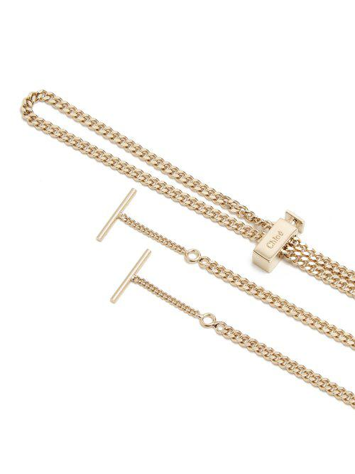 40478a970a3 Lyst - Chloé Eyewear Chain Necklace in Metallic