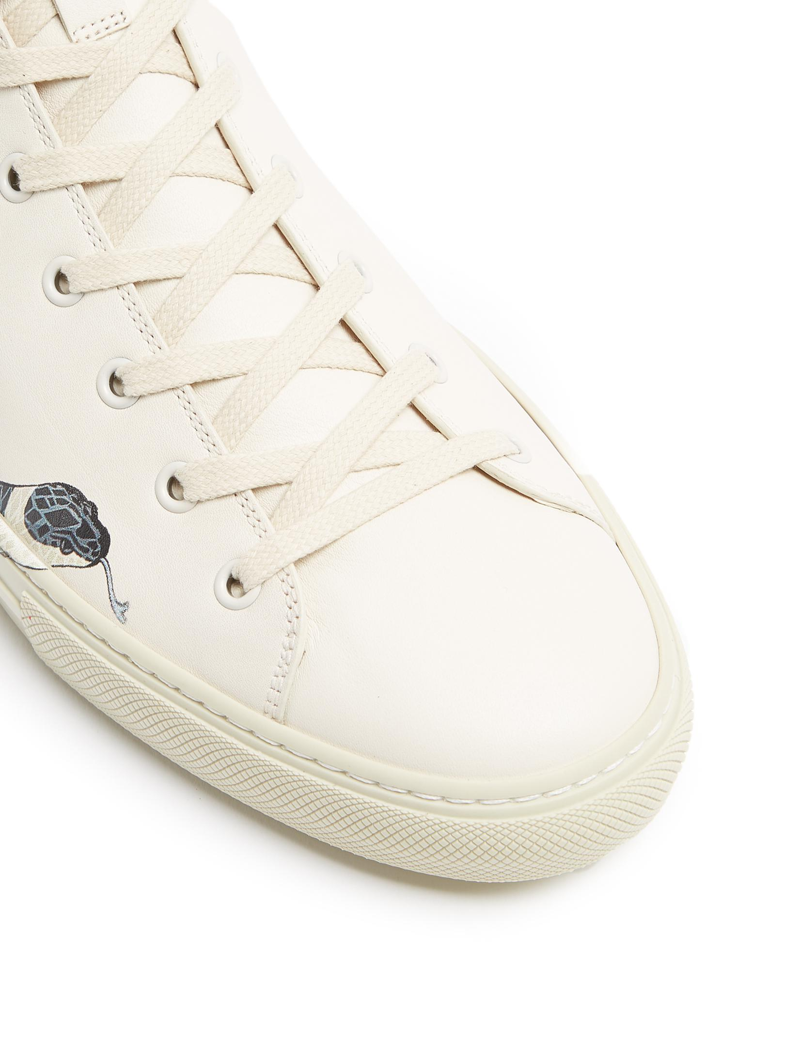 Gucci Major Snake Print High Top Leather Trainers For Men