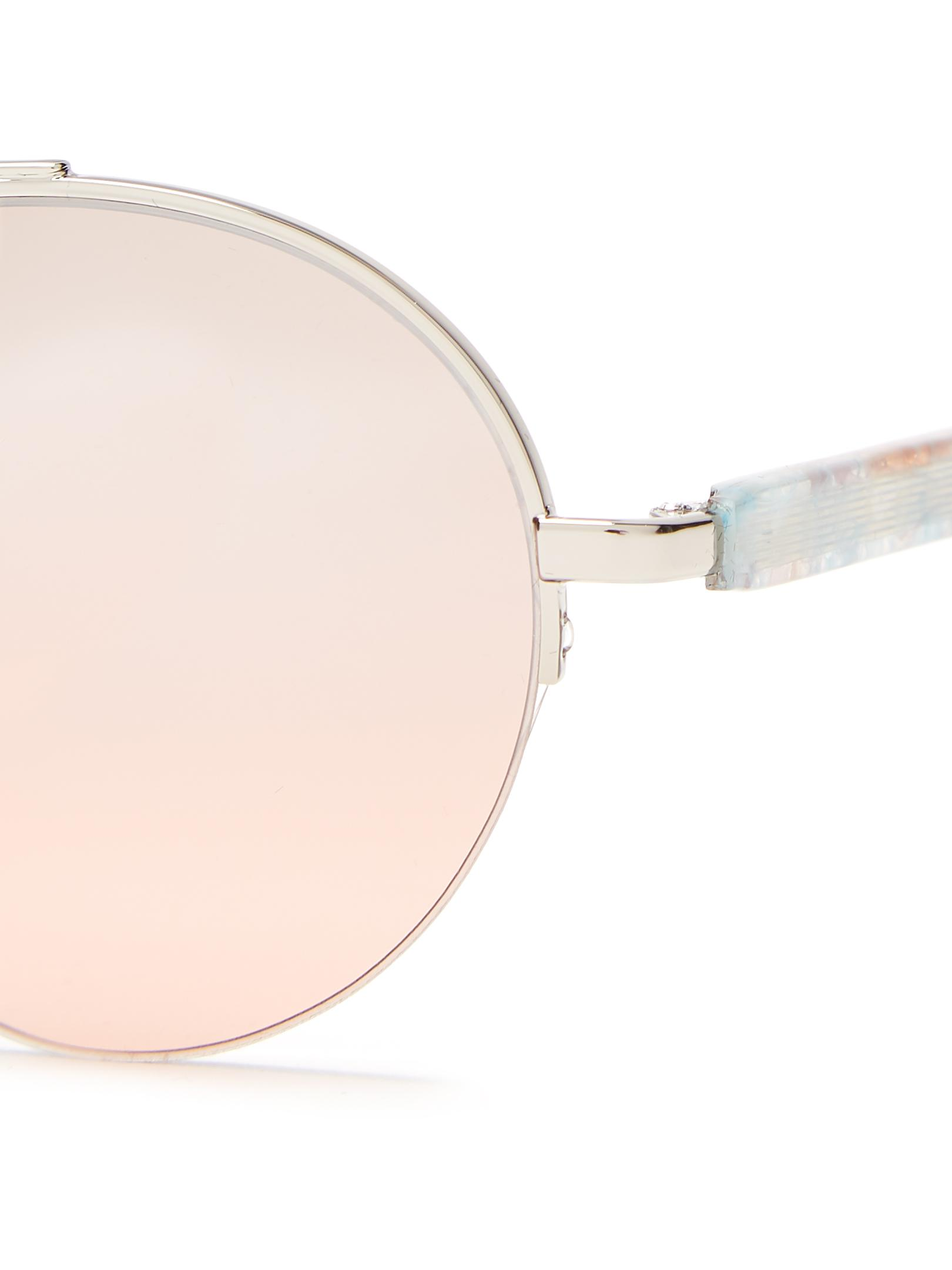 Wire round-frame metal sunglasses Retro Superfuture m2lfr