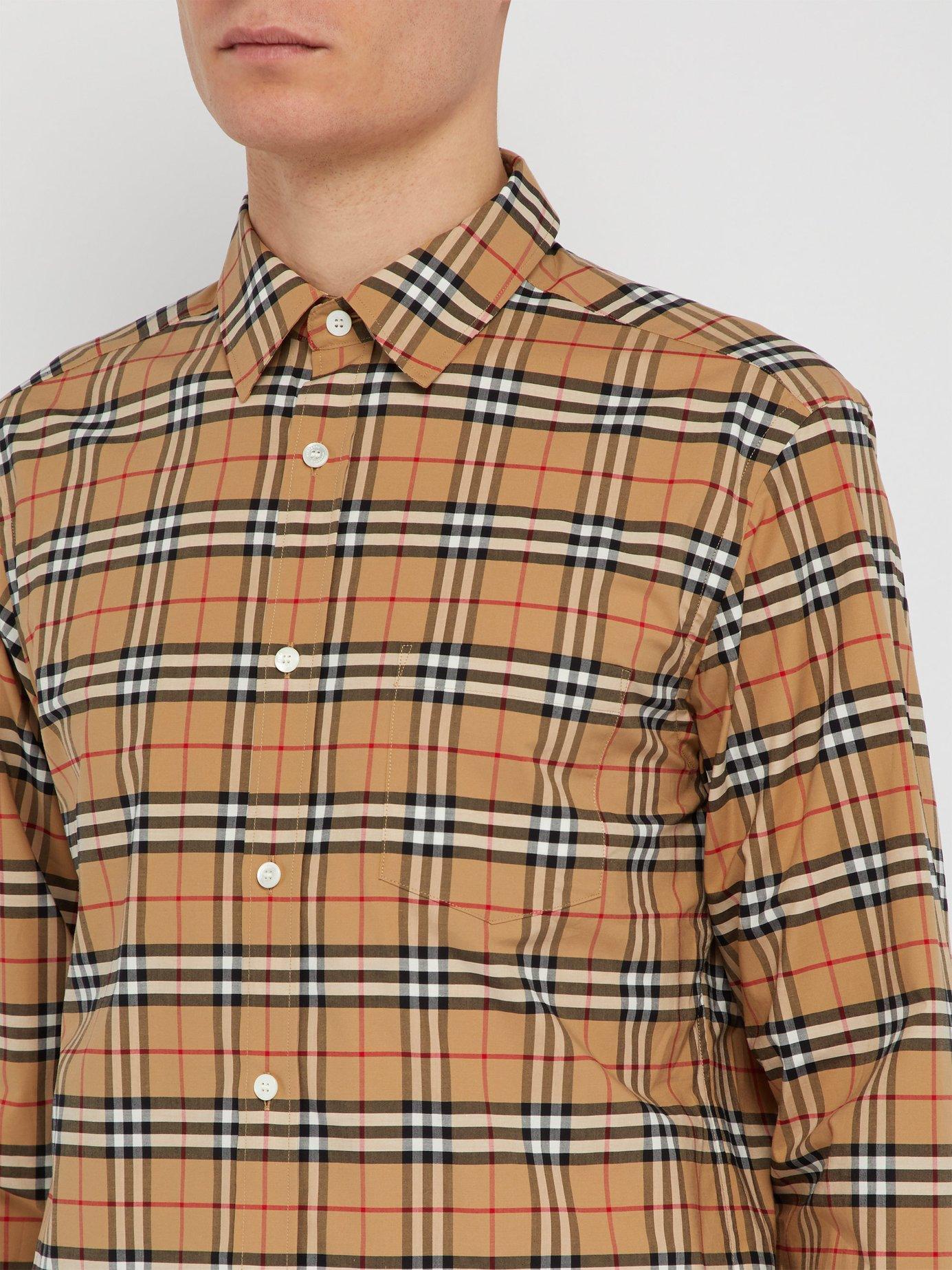 72c765b3872 Burberry - Multicolor George House Check Cotton Blend Shirt for Men - Lyst.  View fullscreen