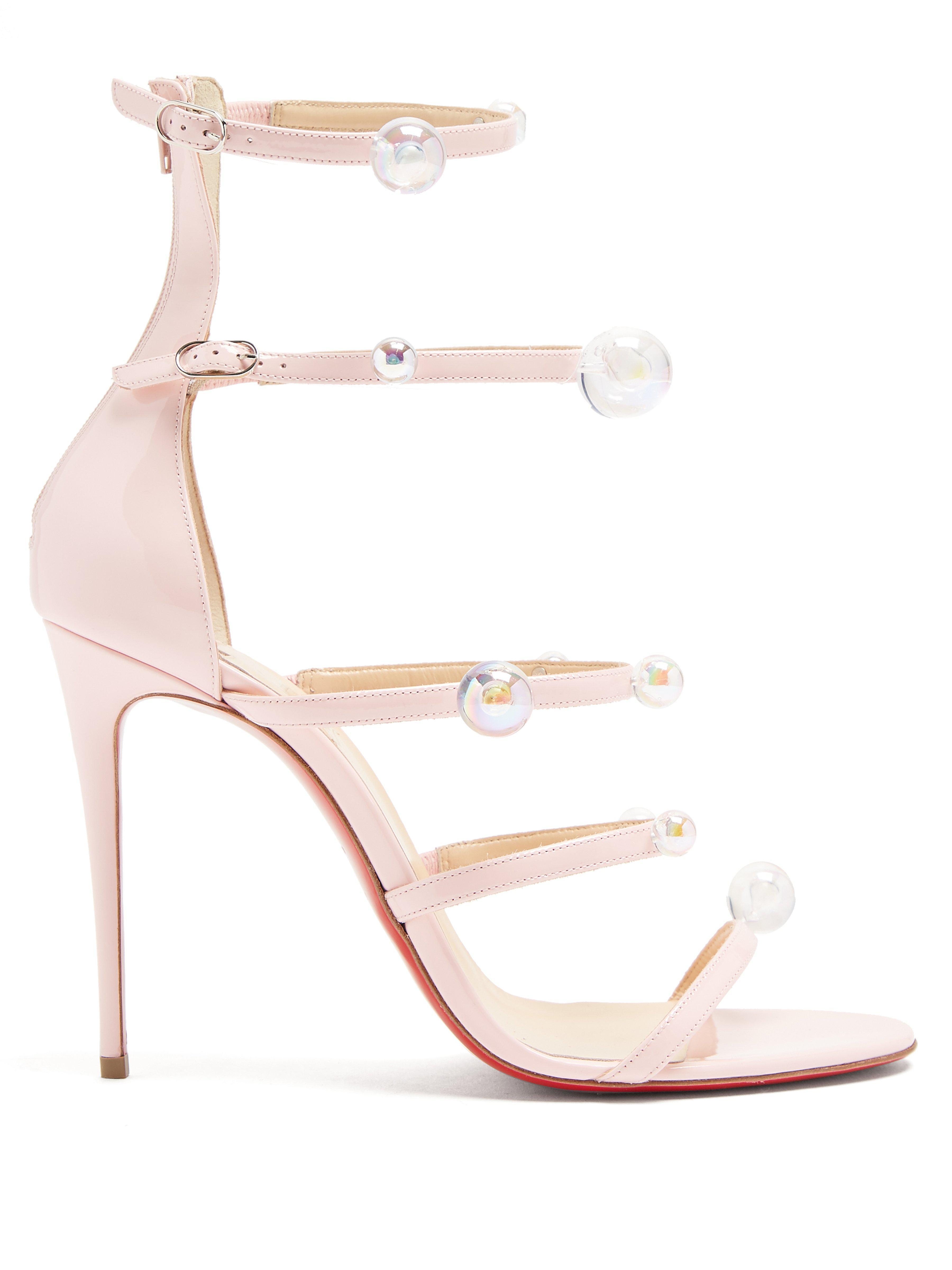 405640e73b48 Christian Louboutin. Women s Pink Antonana 100 Patent Leather Sandals