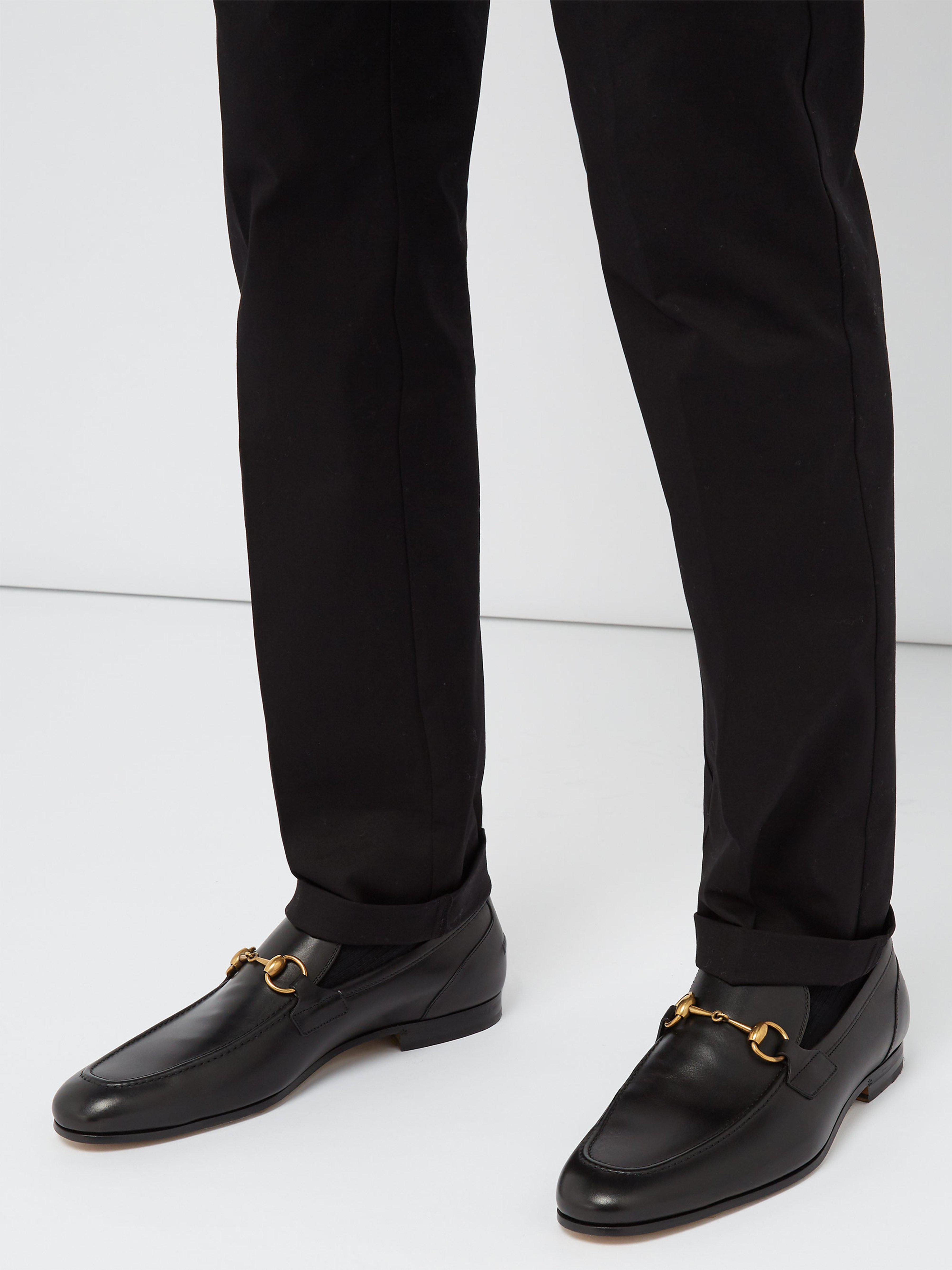 2bc47cff1 Gucci - Black Jordaan Leather Loafers for Men - Lyst. View fullscreen