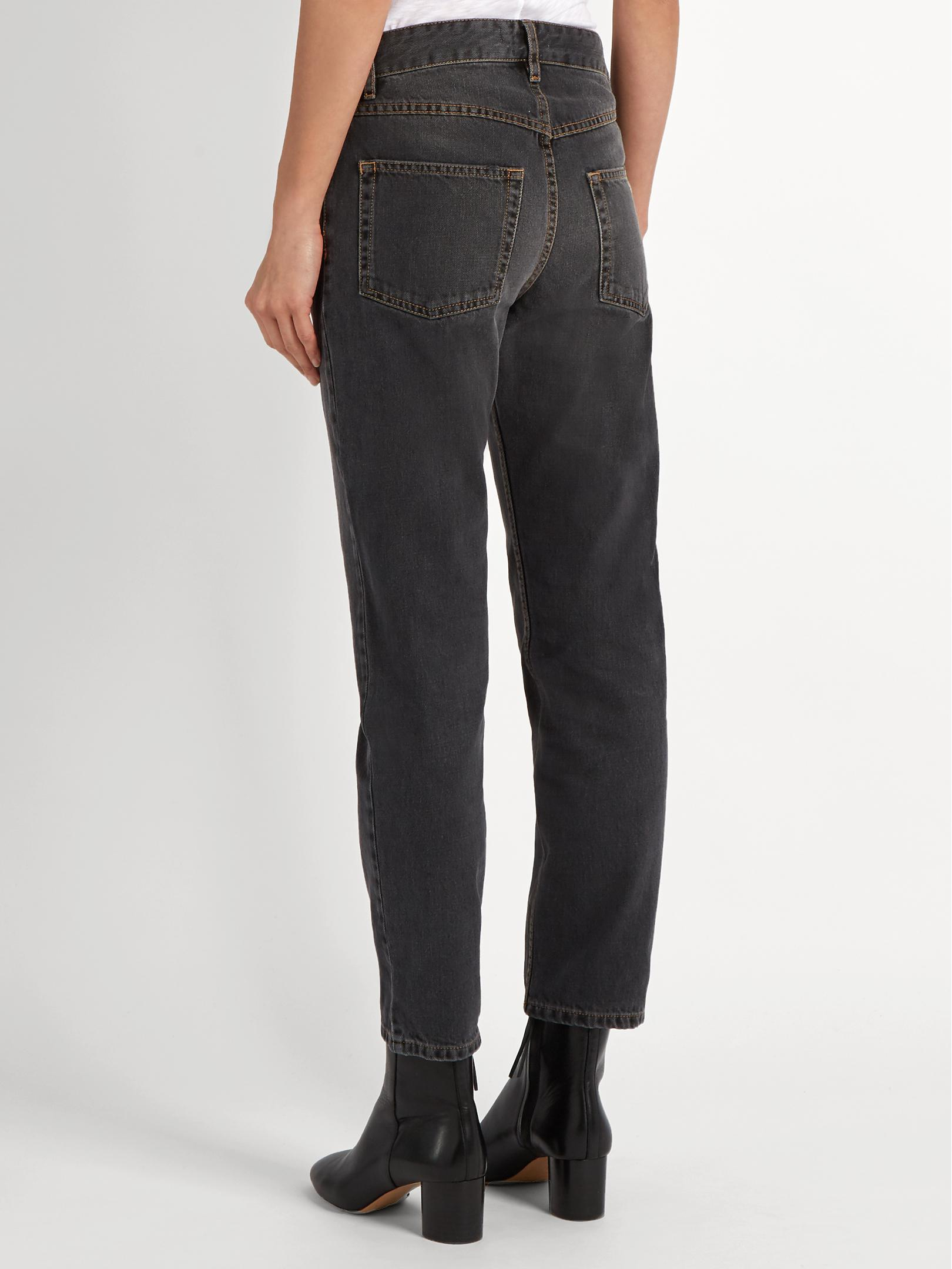 8058253ca7e7 Étoile Isabel Marant Cliff High-rise Straight-leg Jeans in Gray - Lyst