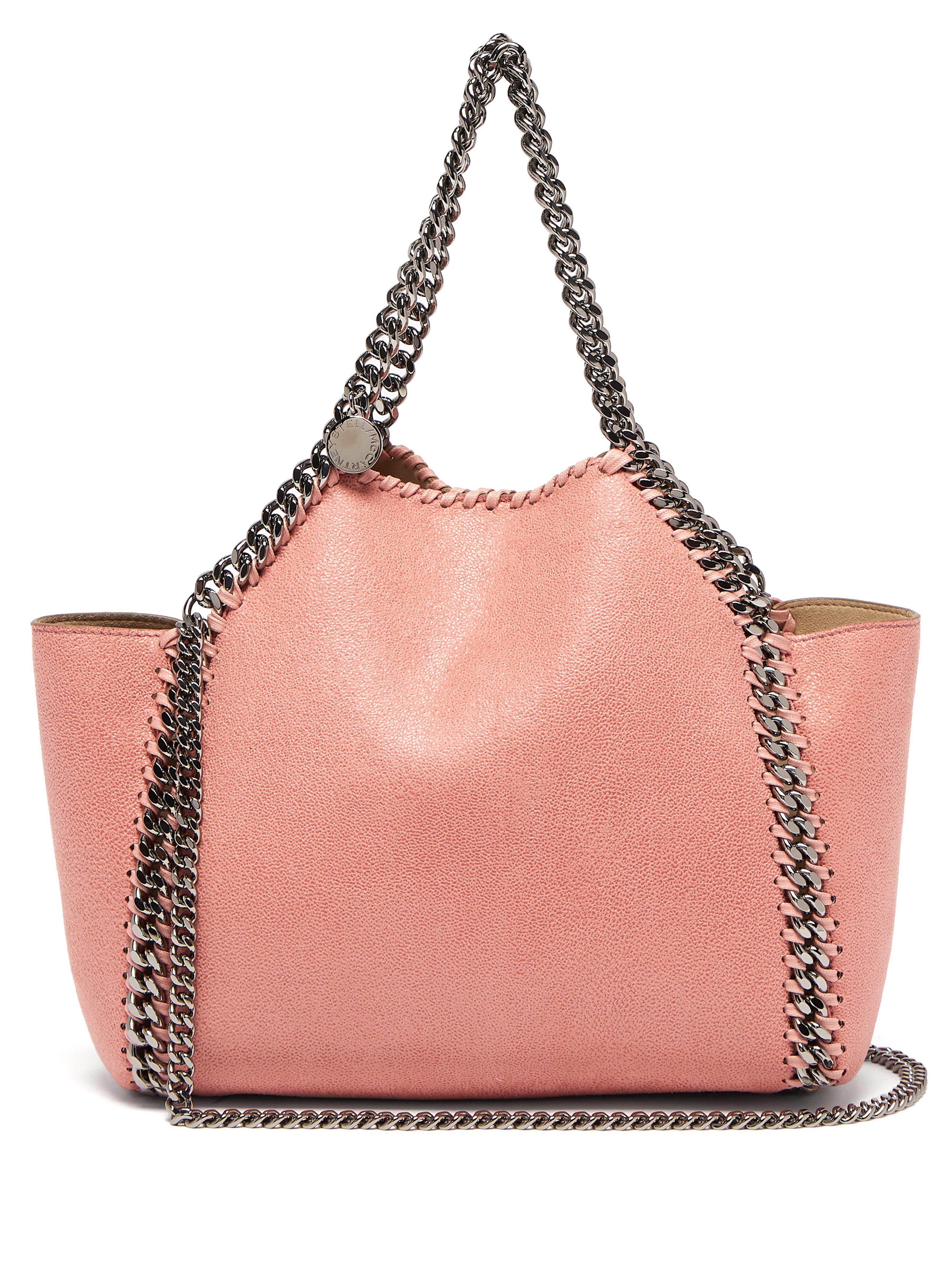 902c46db5178 Stella McCartney. Women s Pink Falabella Mini Faux Suede Reversible Tote Bag