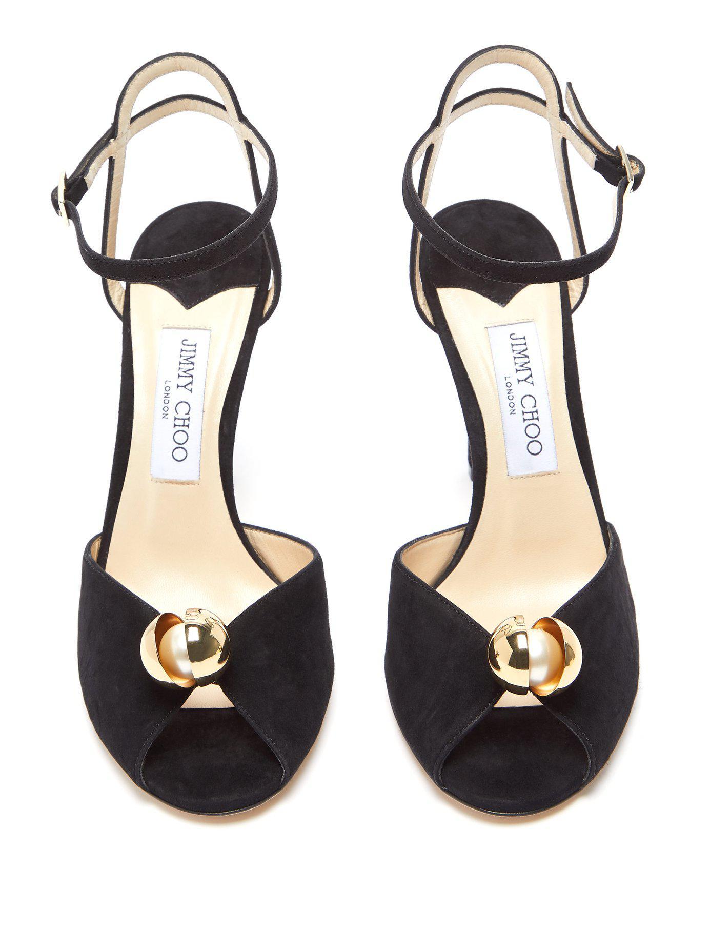 47c154e684e Lyst - Jimmy Choo Sacora Suede Sandals in Black