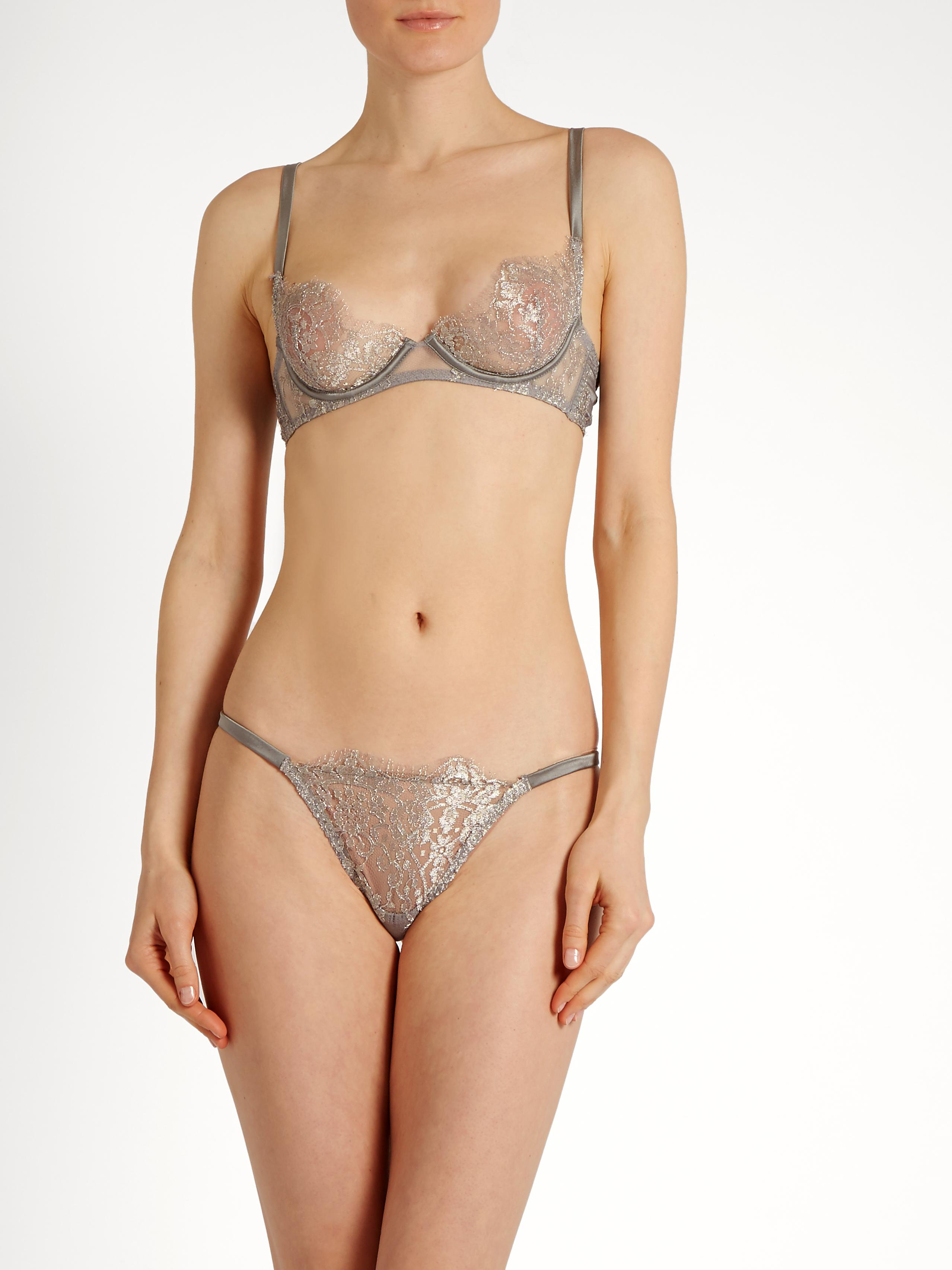 Clearance Latest Sale Cheapest Price Ardea embroidered-lace thong Coco de Mer Cheap Sale How Much Outlet Footlocker Finishline 4G2fHICr
