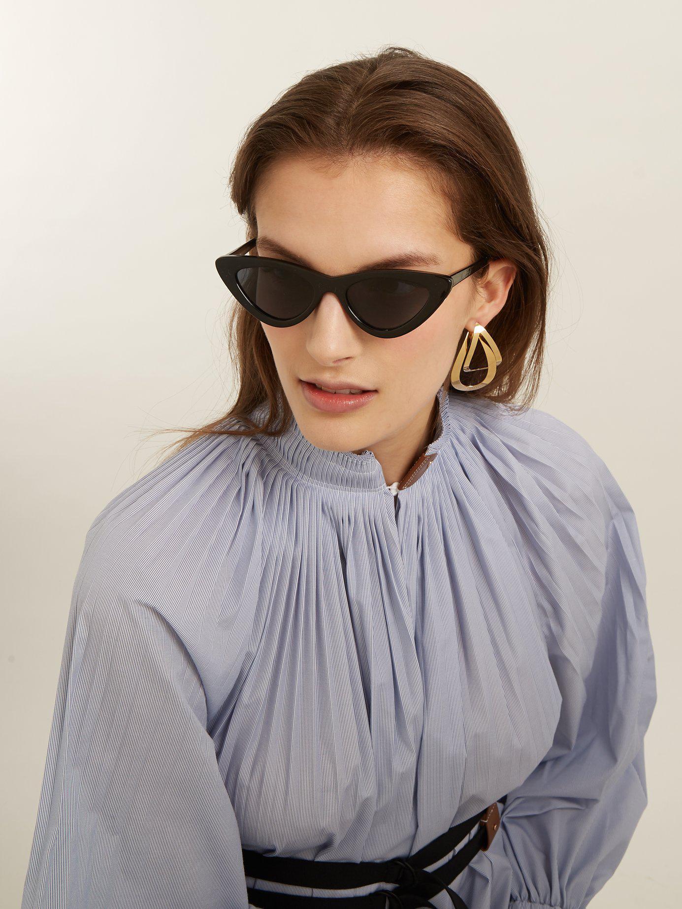 53b505f1e66 Lyst - Le Specs The Last Lolita Cat Eye Sunglasses in Black - Save 46%