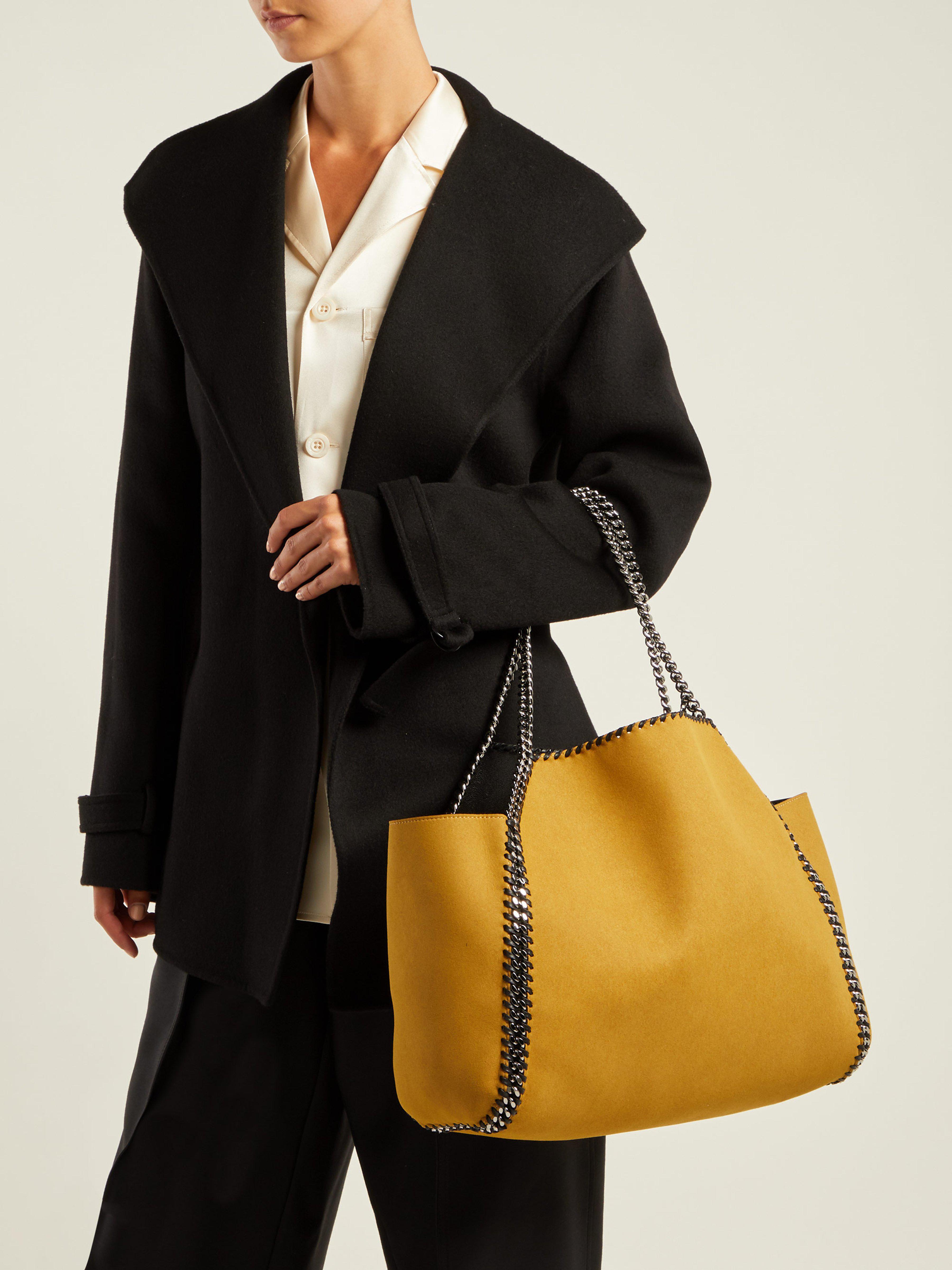 2f6e2dad72 Stella McCartney Falabella Mini Reversible Tote Bag in Black - Save 32% -  Lyst