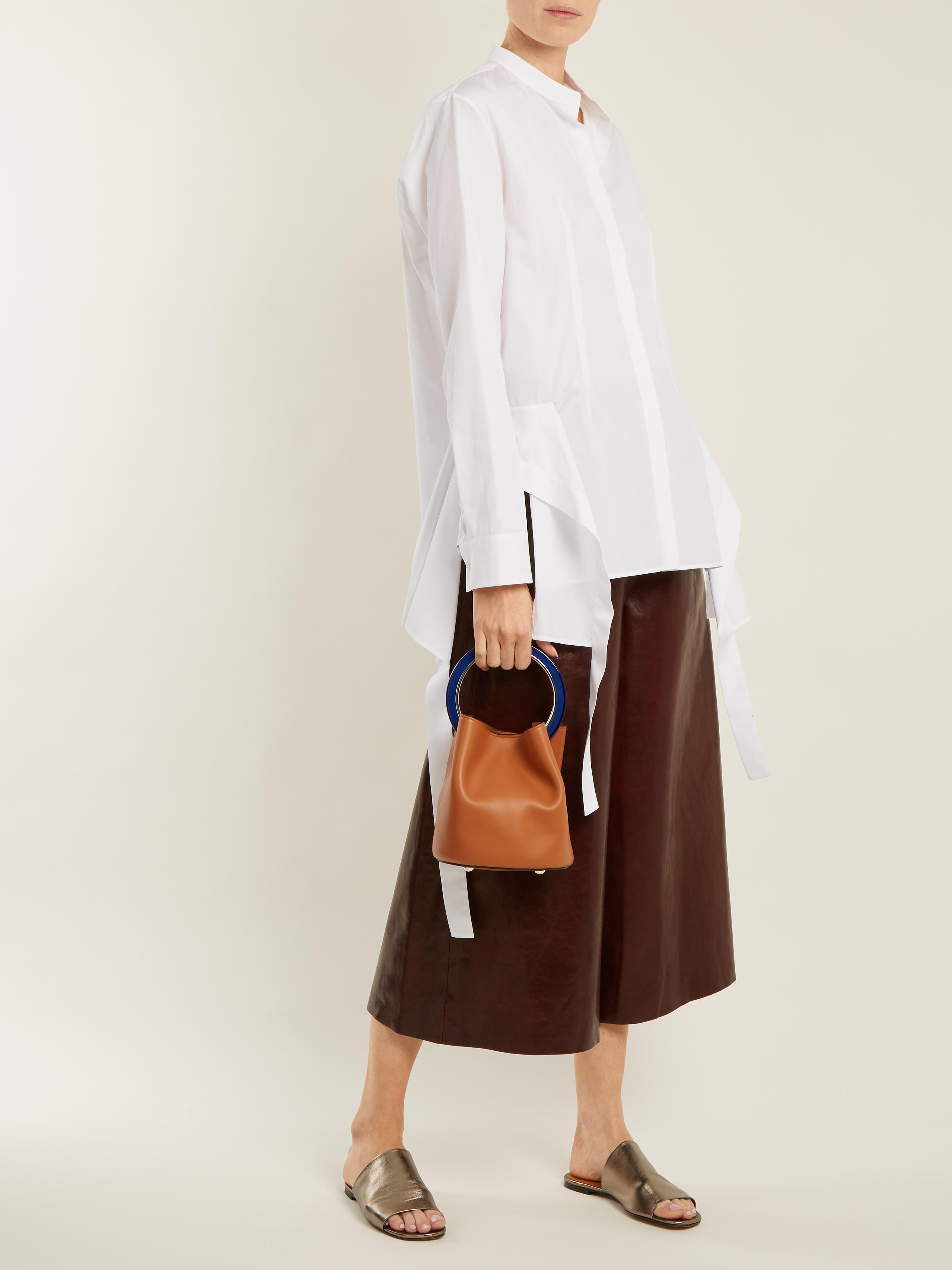 887c20835 Marni Pannier Leather Bucket Bag in Brown - Lyst