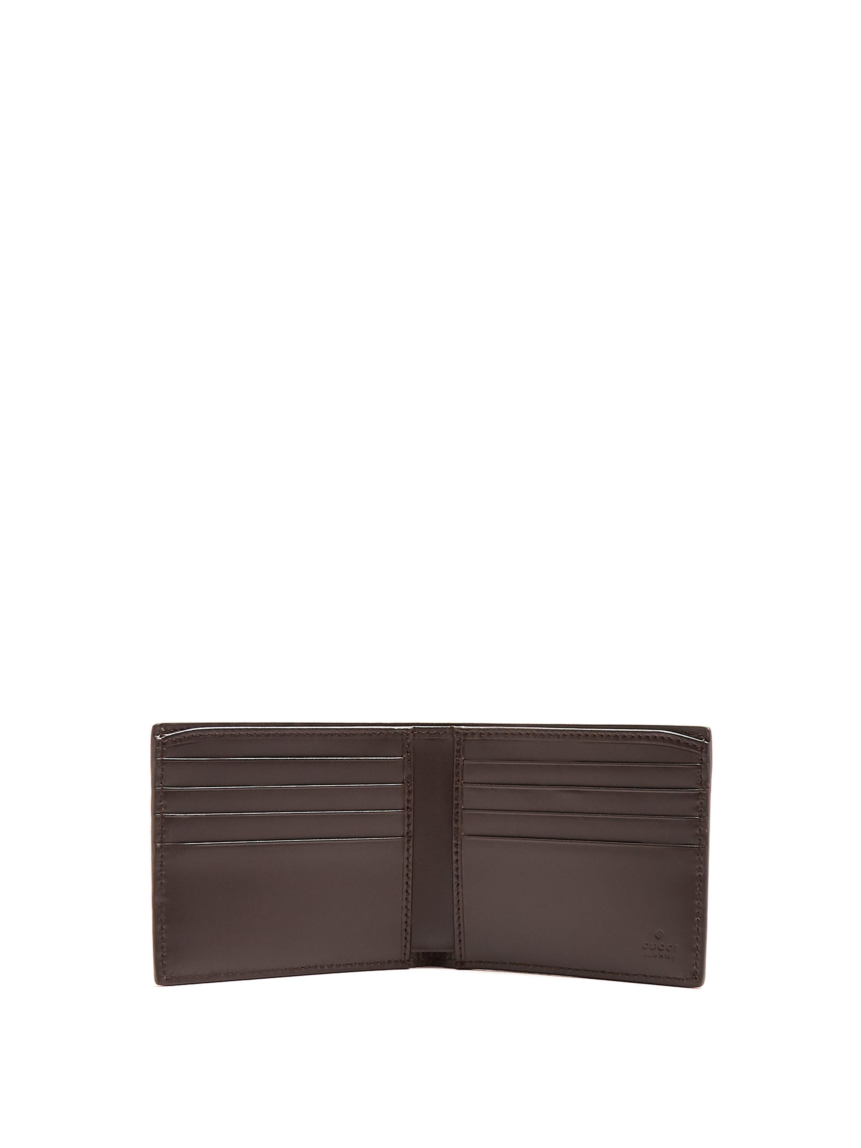 11e7b8bbf718 Gucci Gg Debossed Bi Fold Leather Wallet in Brown for Men - Lyst