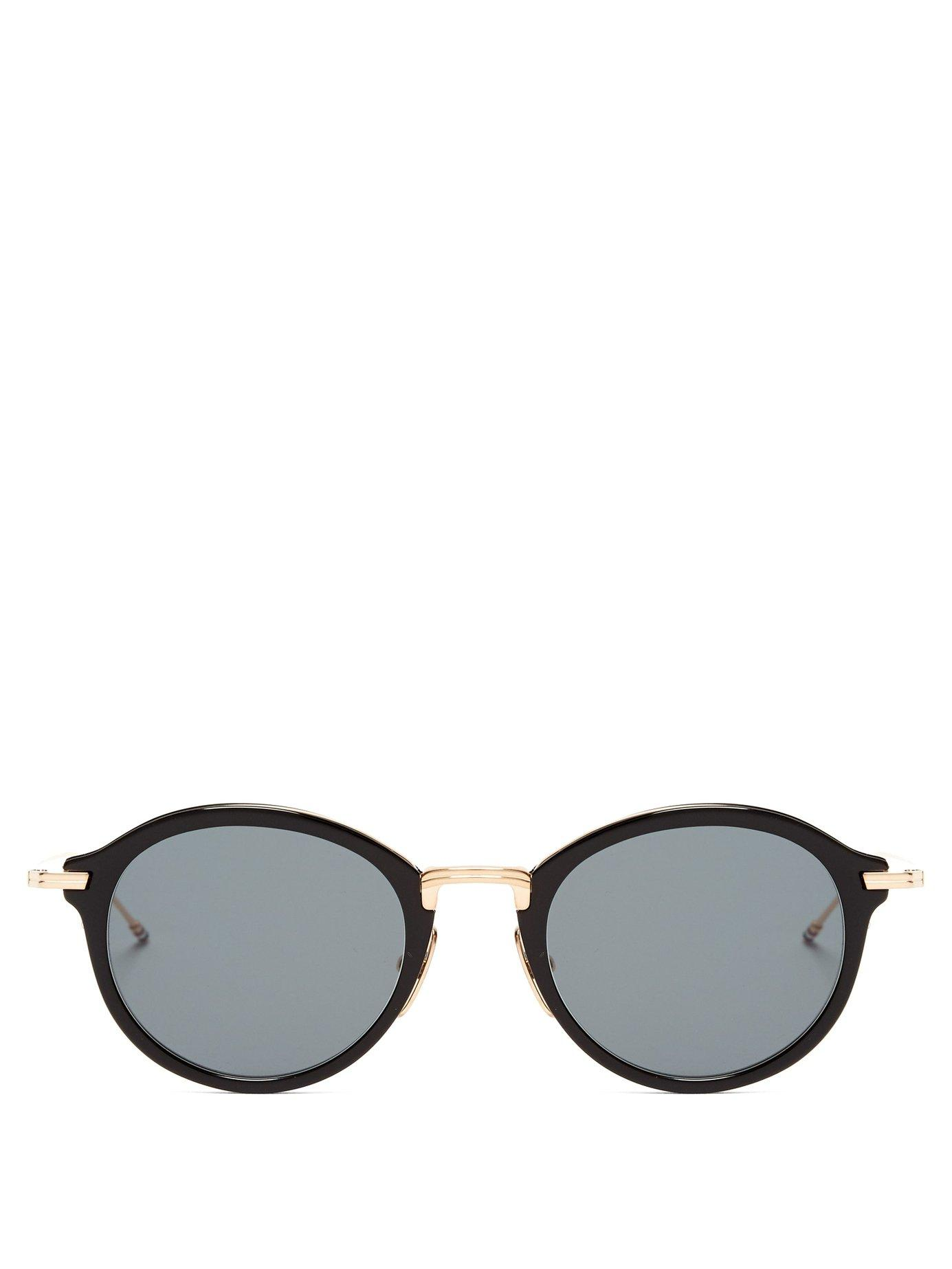 1b522d18283b Lyst - Thom Browne Round Acetate And Metal Sunglasses in Metallic ...