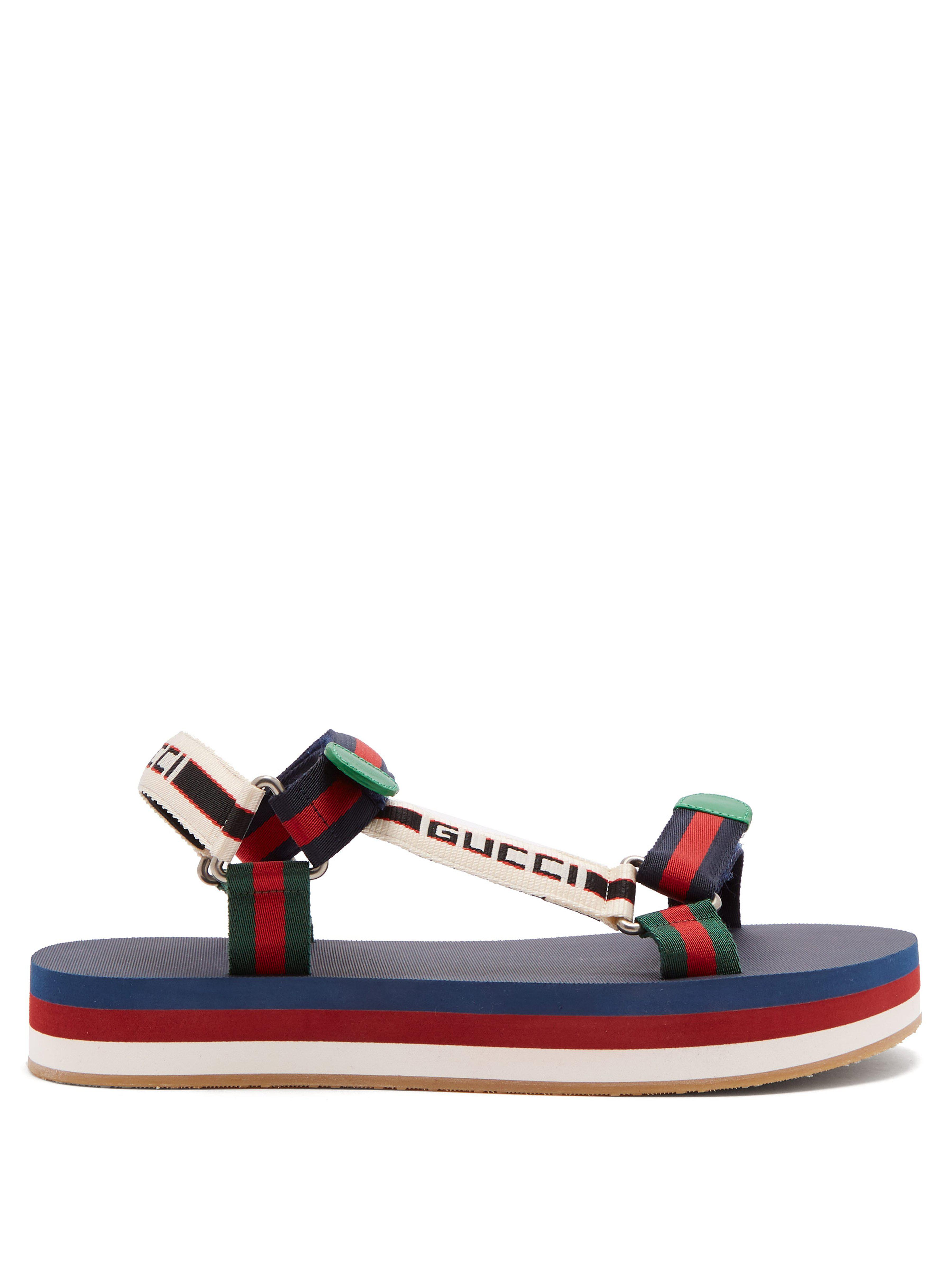 59c84d22643 Gucci Bedlam Logo Strap Sandals for Men - Lyst