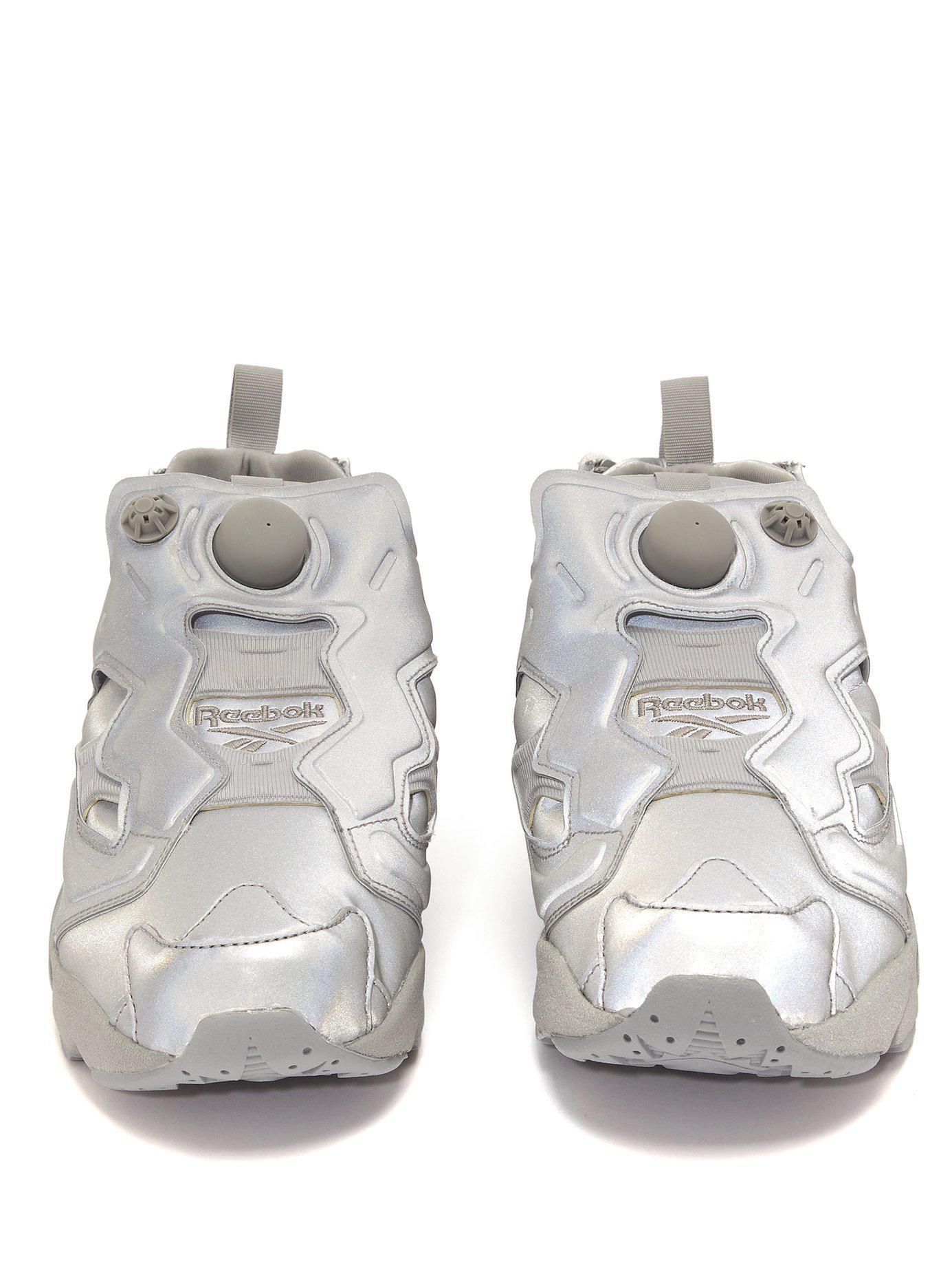 a10f41c45ca6 Vetements - Gray Reebok Instapump Fury Reflective Leather Sneakers - Lyst.  View fullscreen