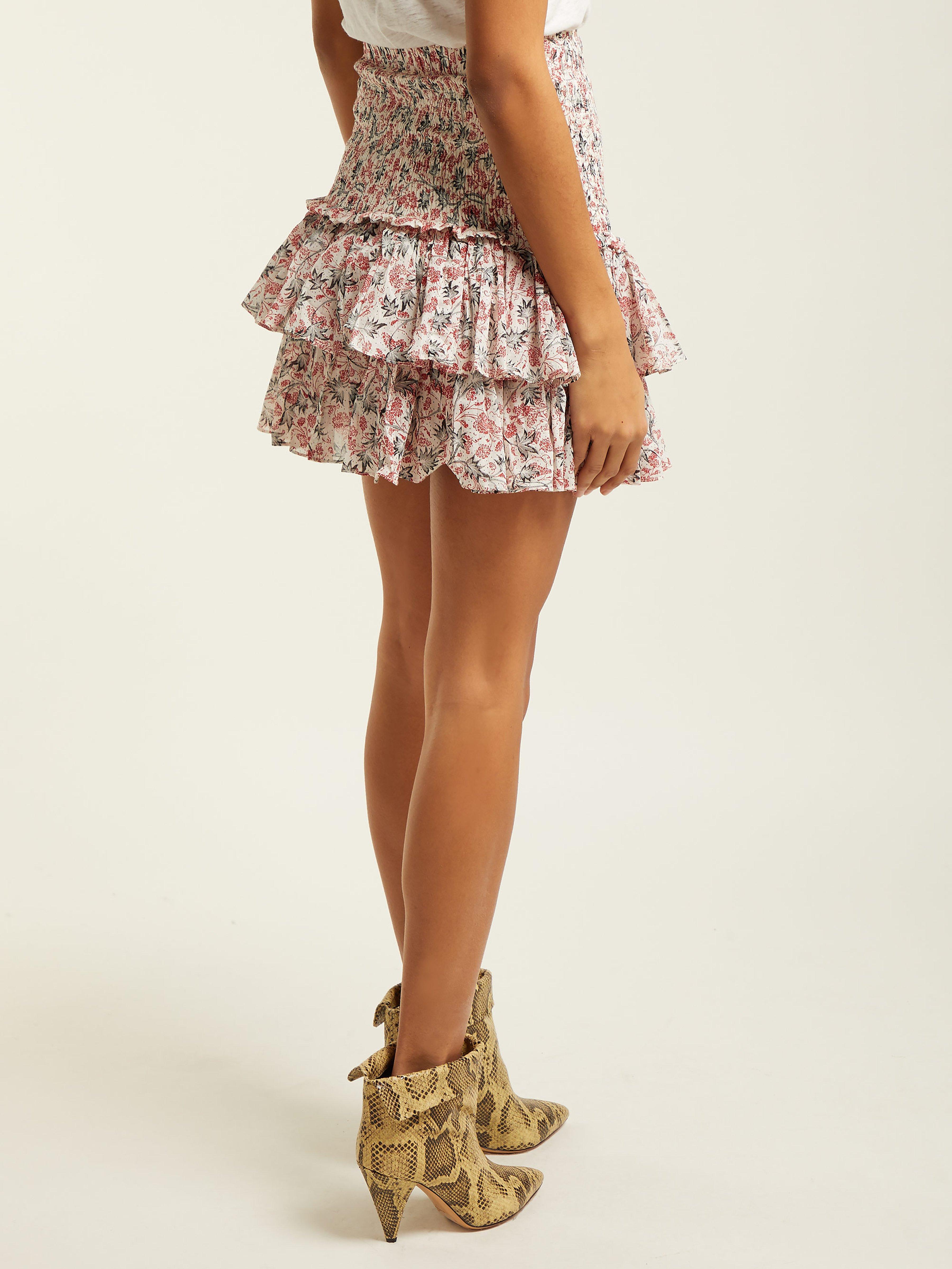 c144763d95d79 Étoile Isabel Marant Naomi Floral Print Cotton Mini Skirt - Lyst