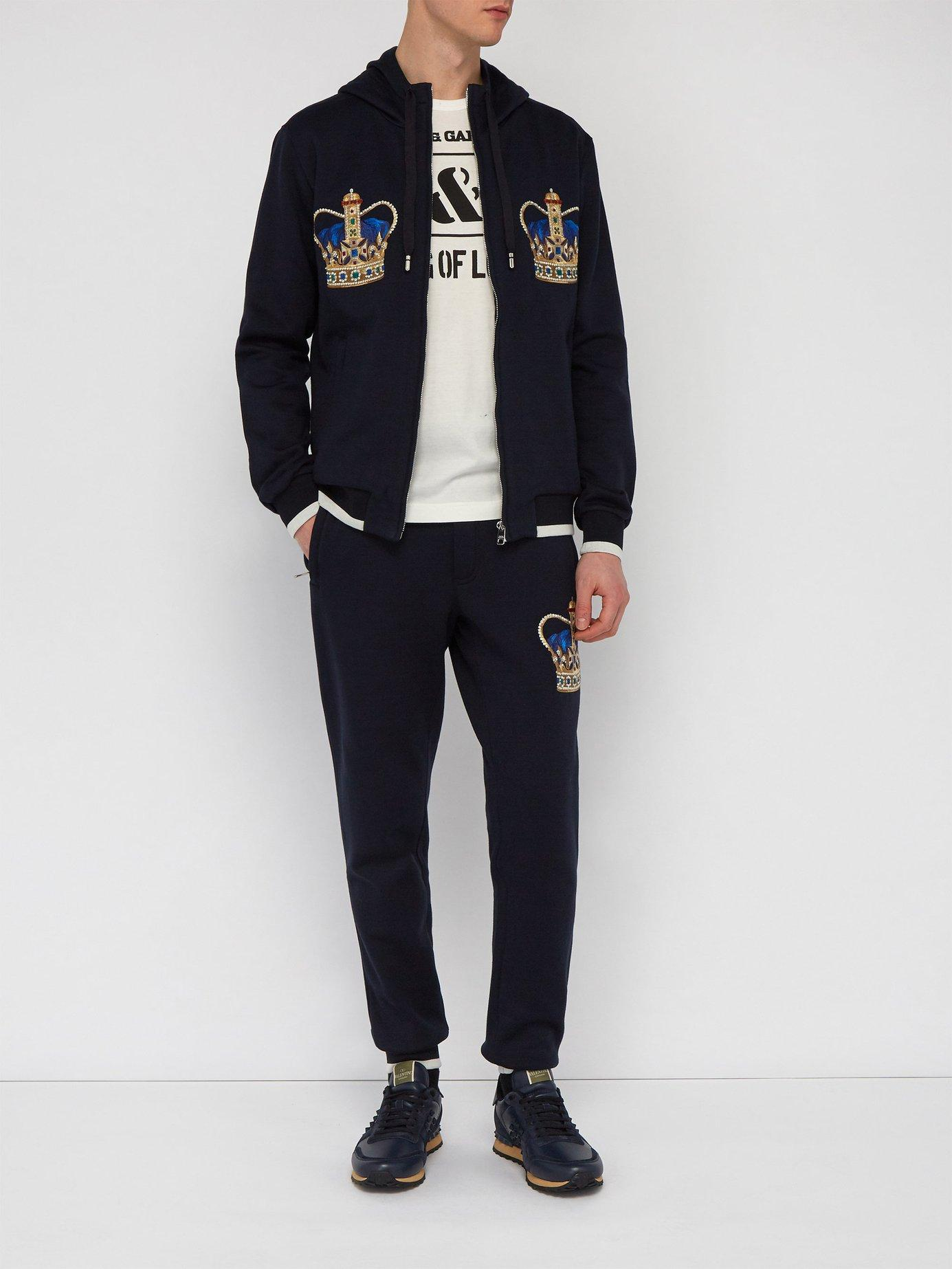 2ff6e928e4e3 Lyst - Dolce   Gabbana Crown Track Pants in Blue for Men - Save 16%