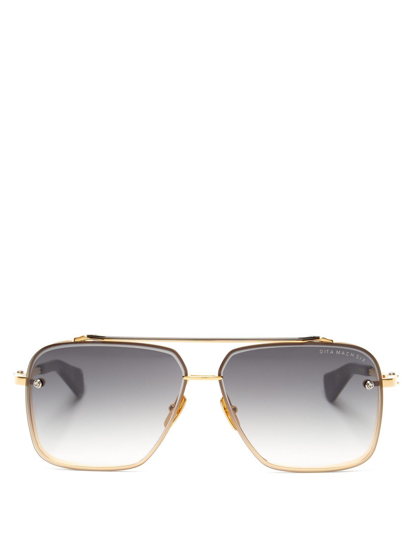 94a115df504e8 Dita Eyewear Mach Six Aviator Sunglasses in Metallic for Men - Lyst