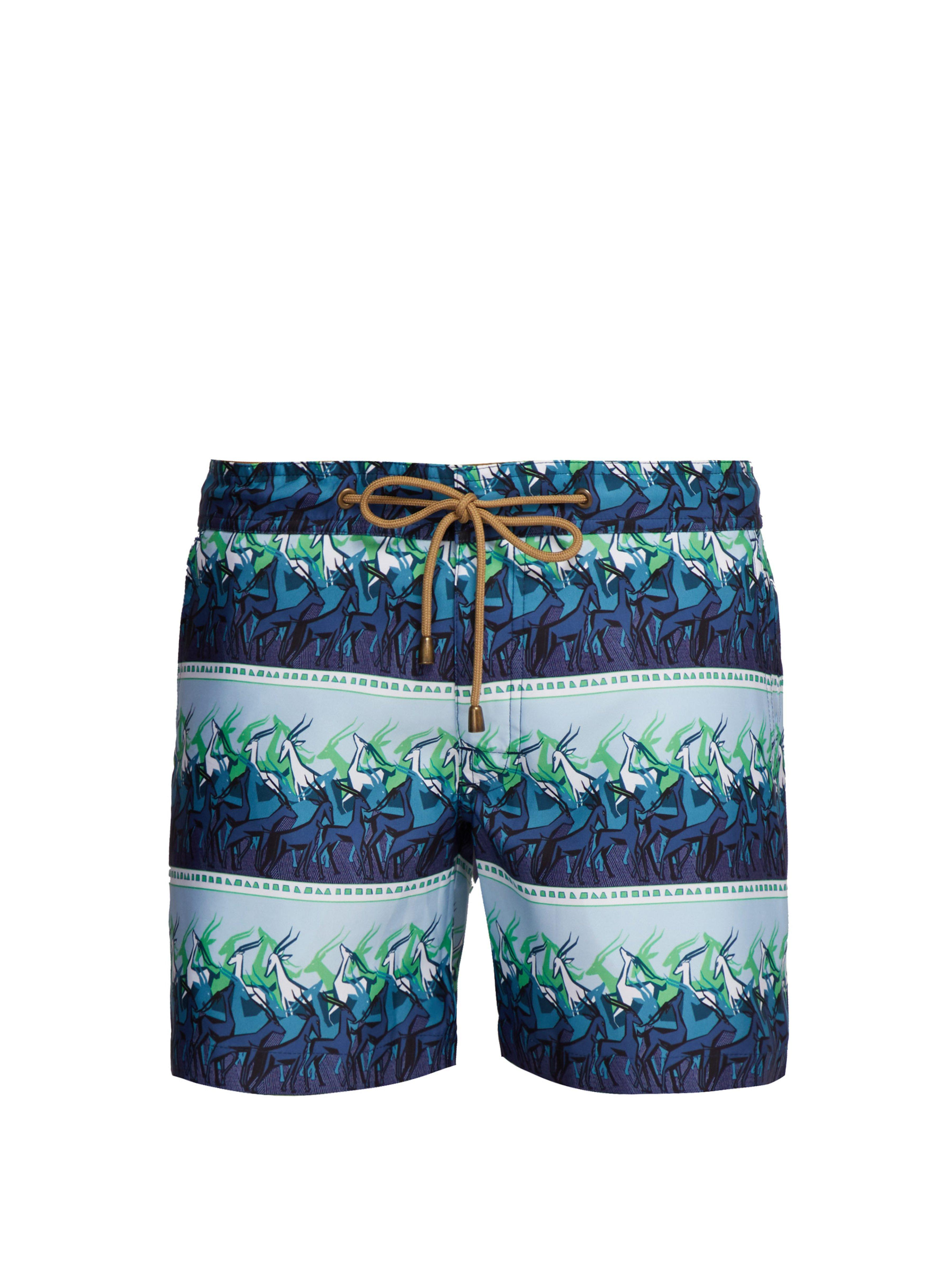 60d36f98a3 Thorsun - Blue Antelope Print Titan Fit Swimshorts for Men - Lyst. View  fullscreen