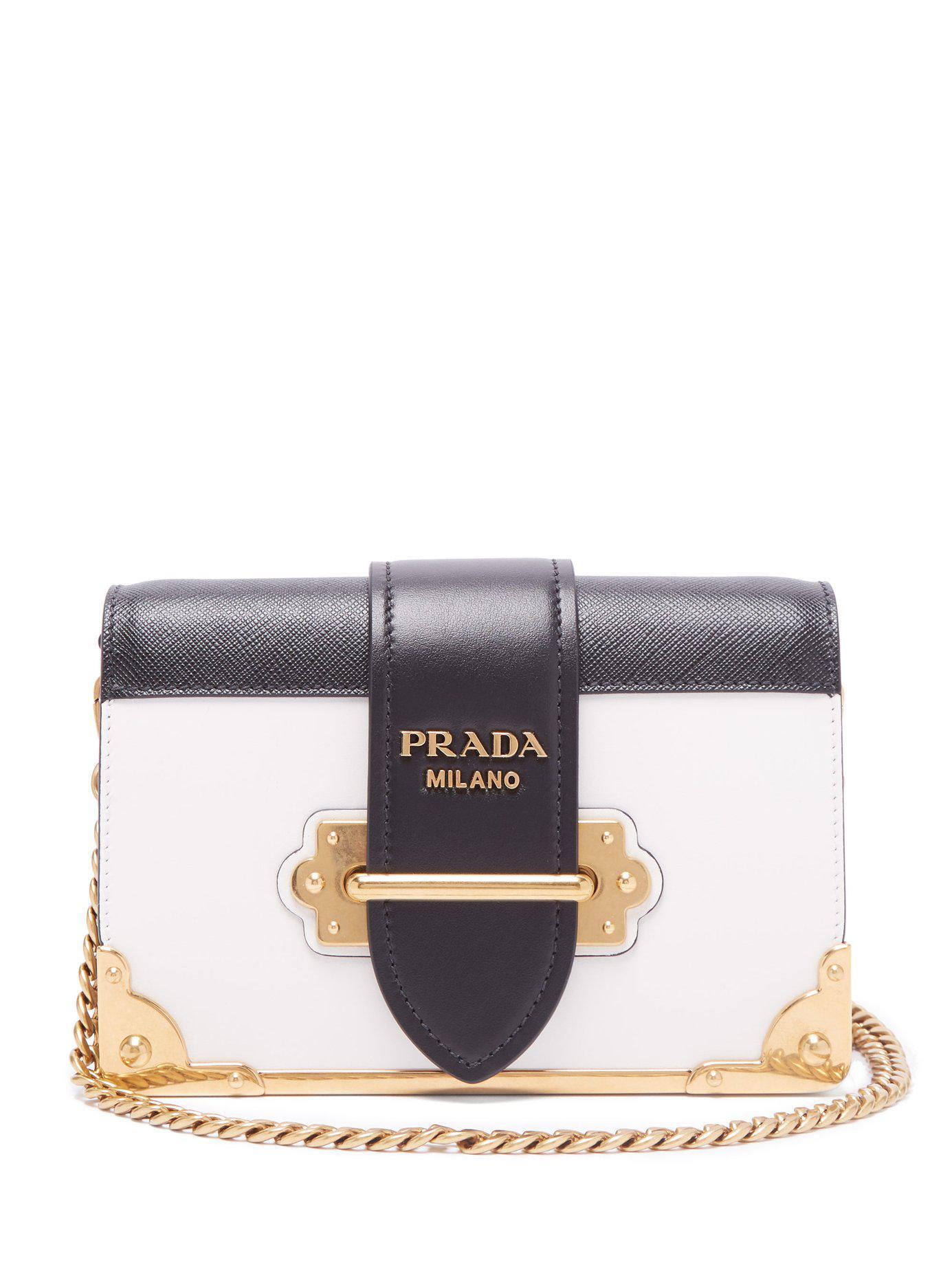 1e422c1fa401 Prada Cahier Leather Cross Body Bag - Save 18% - Lyst