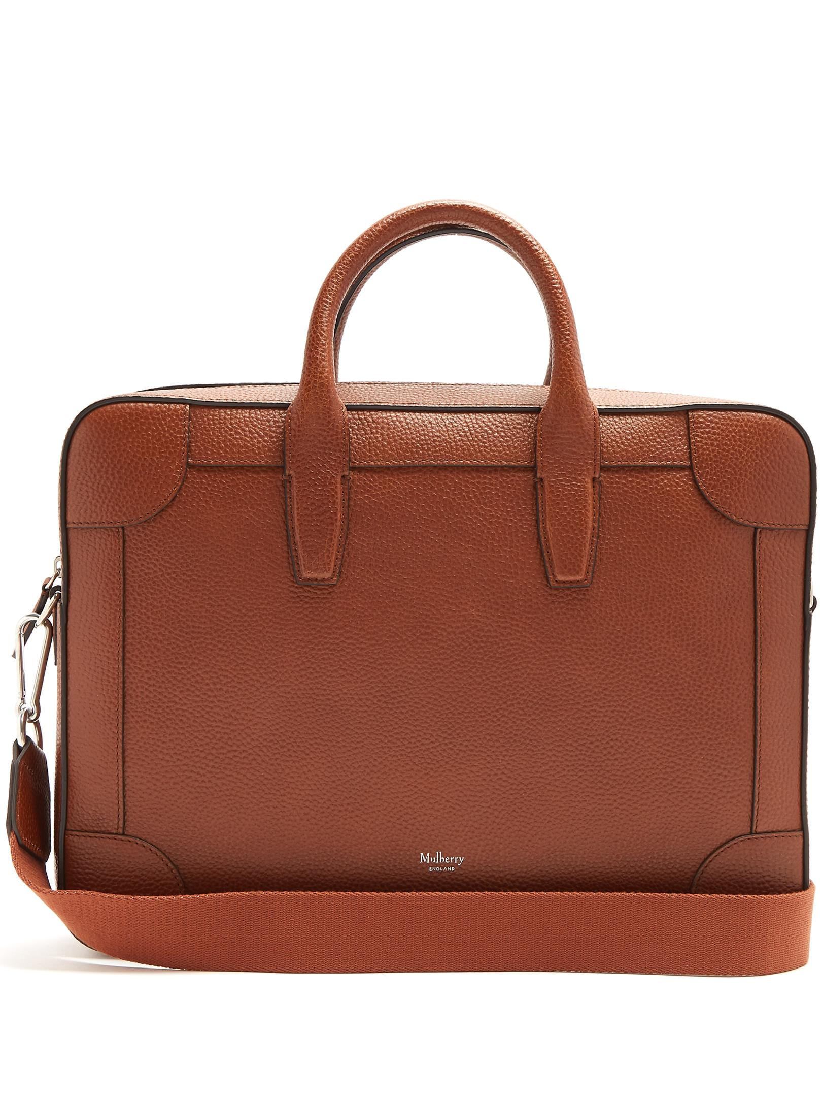 02f99388b0 Mulberry Belgrave Grained-leather Briefcase in Brown for Men - Lyst
