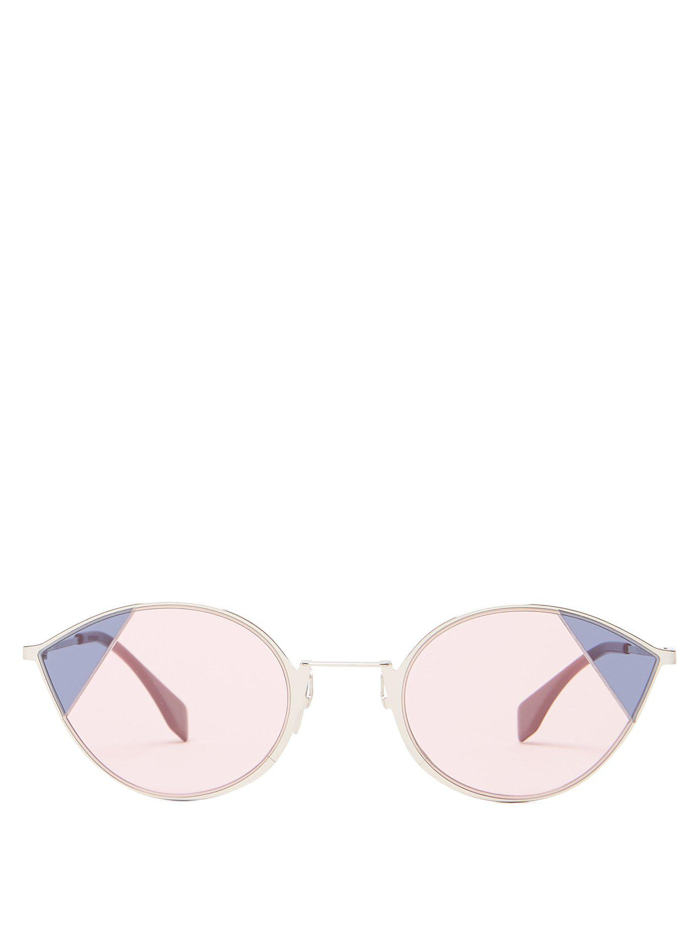 fcc736d47ee82 Lyst - Fendi Cat Eye Sunglasses in Pink - Save 1%