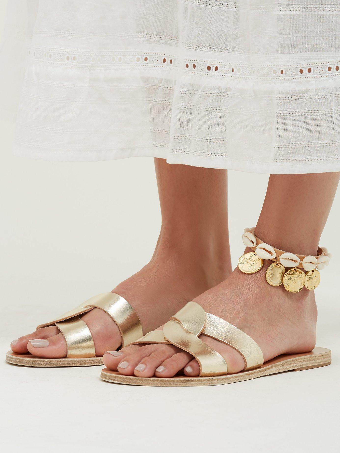 Lyst - Ancient Greek Sandals Puka Shell And Coin Charm